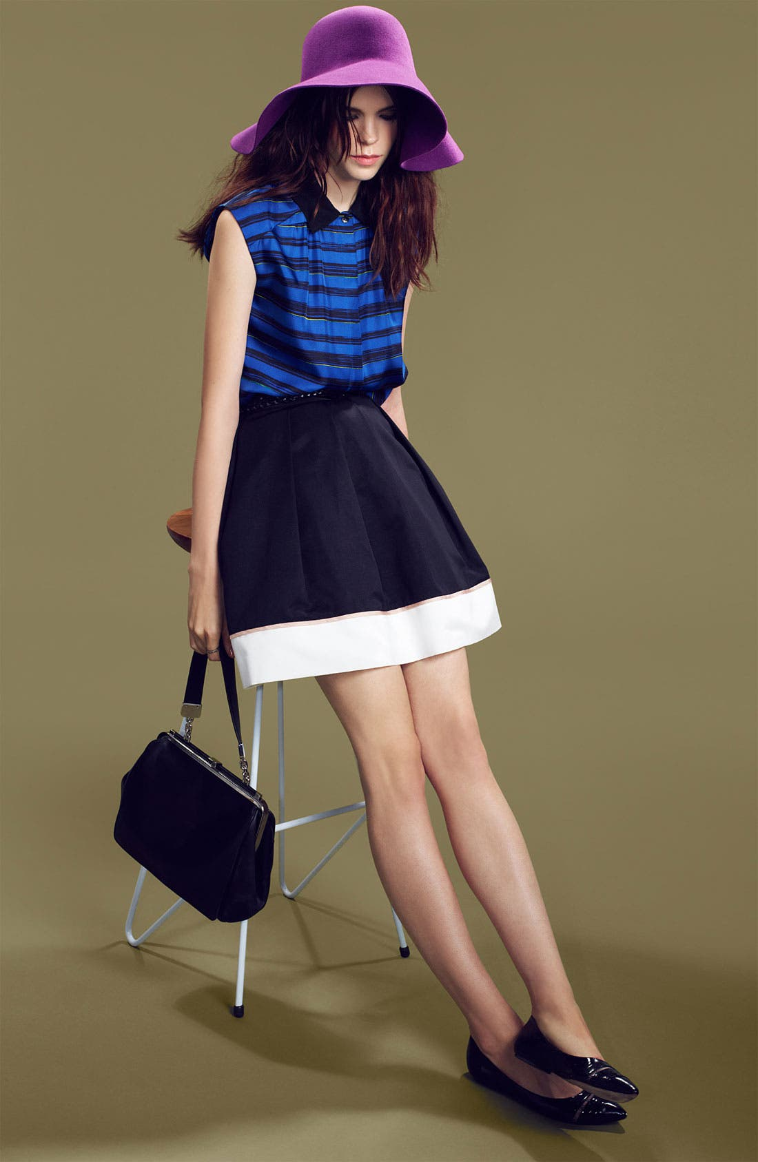 Alternate Image 6  - Miss Wu Hem Detail Faille Skirt (Nordstrom Exclusive)
