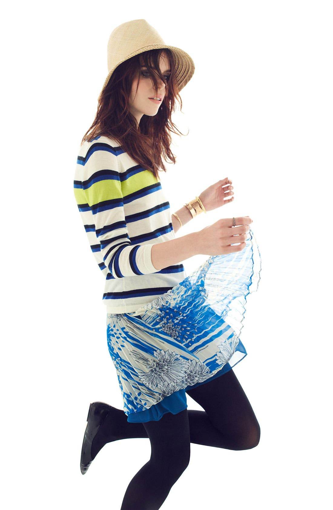 Alternate Image 4  - Miss Wu Print Chiffon Skirt (Nordstrom Exclusive)