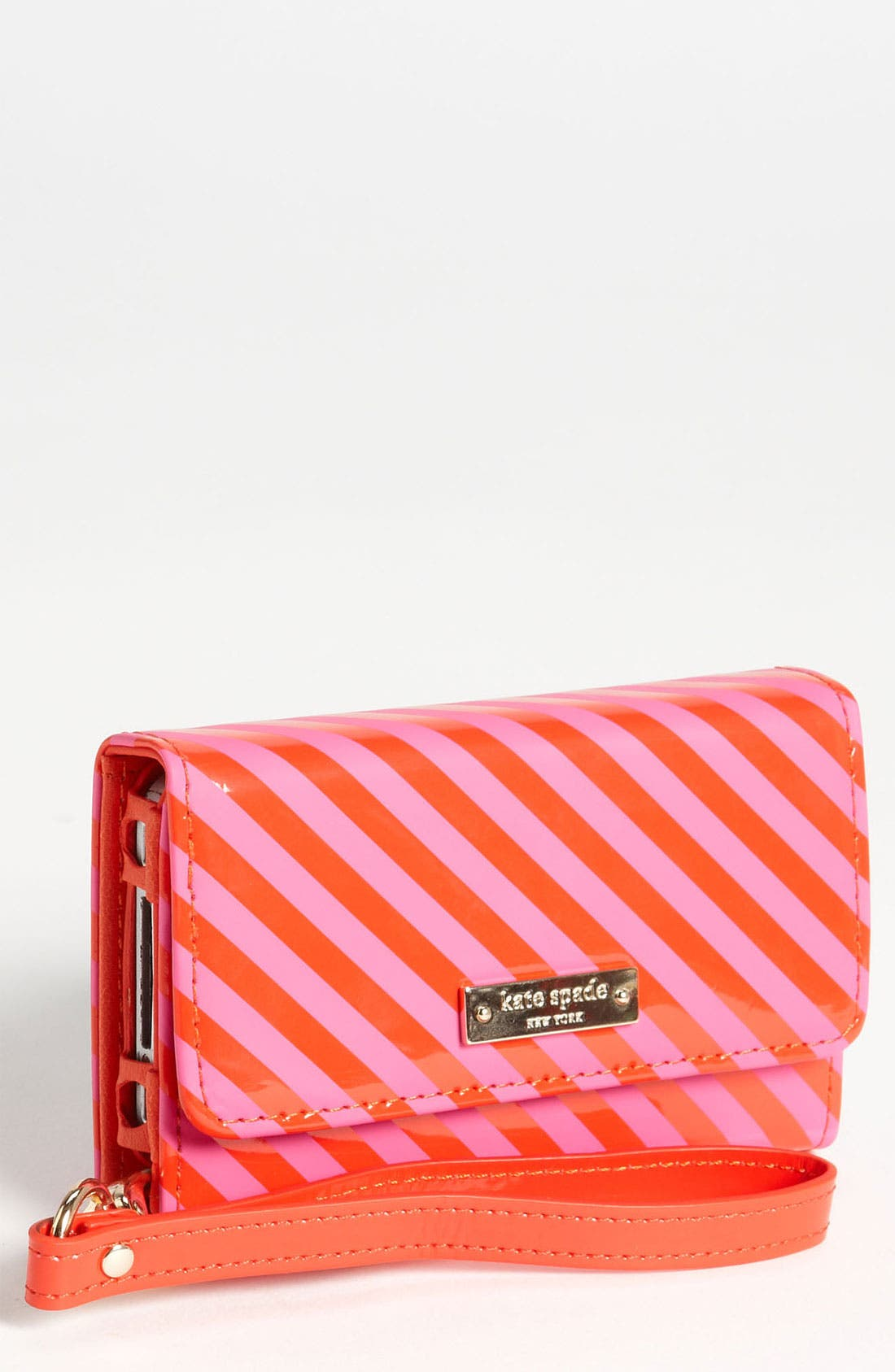 Alternate Image 1 Selected - kate spade new york stripe iPhone wristlet