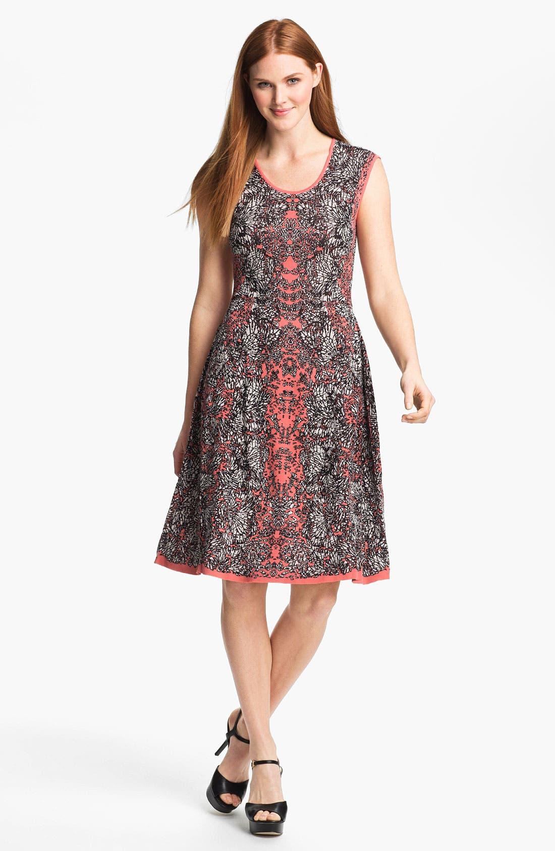 Alternate Image 1 Selected - Nic + Zoe 'Peeking Out' Print Dress