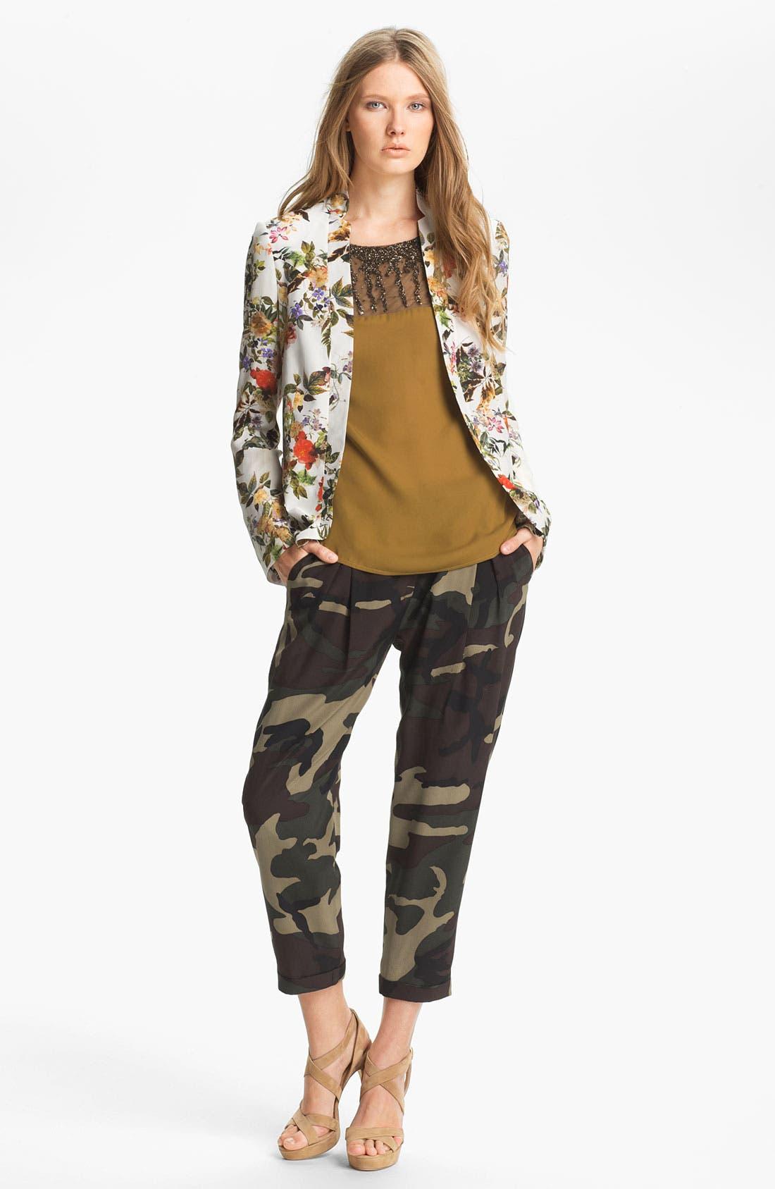 Alternate Image 2  - Haute Hippie Floral Print Silk Blazer