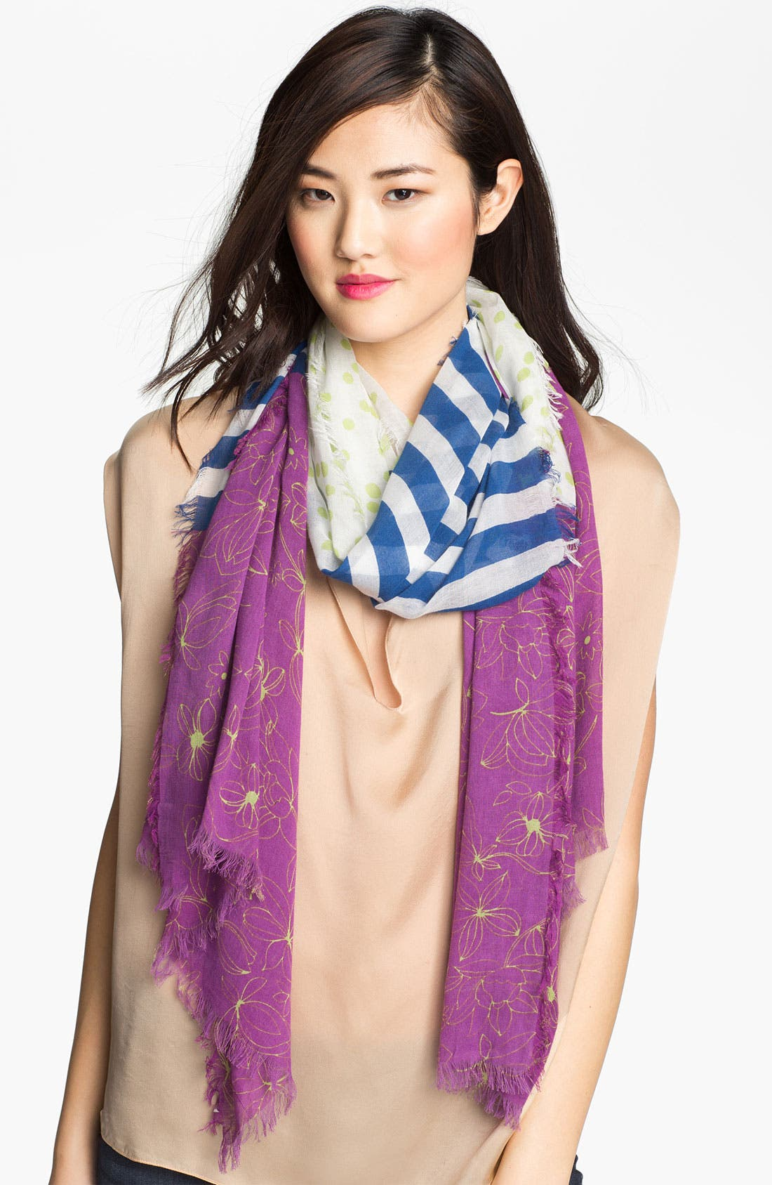 Alternate Image 1 Selected - Halogen® 'Pea Patch' Scarf