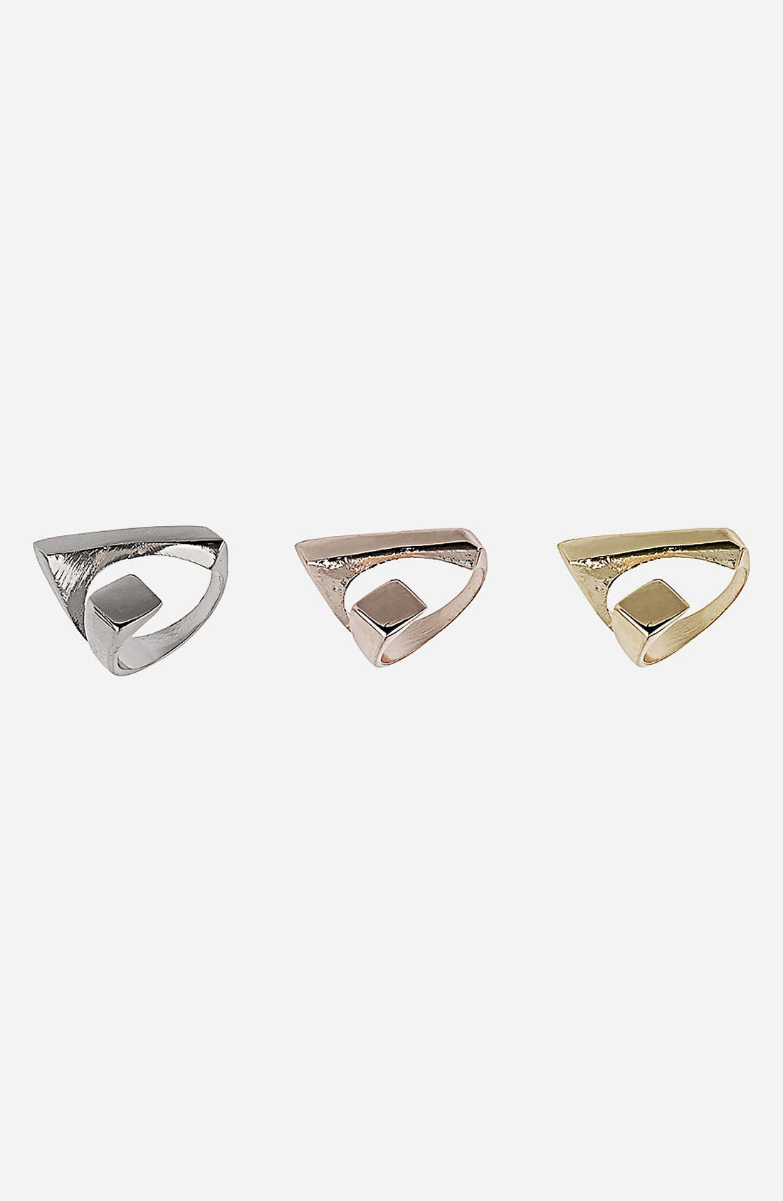 Main Image - Topshop Abstract Rings (3-Pack)