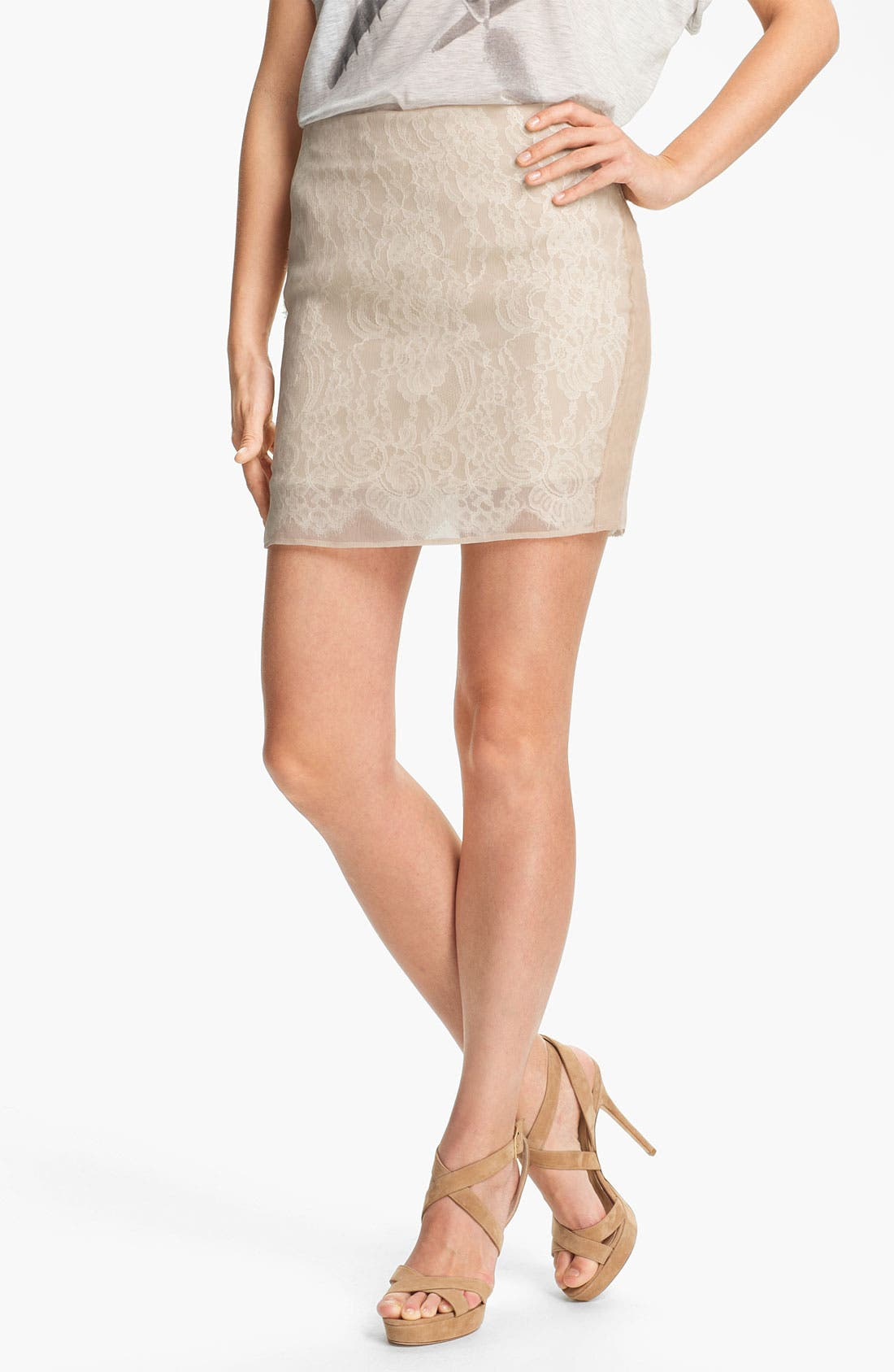 Main Image - Haute Hippie Lace Pencil Skirt