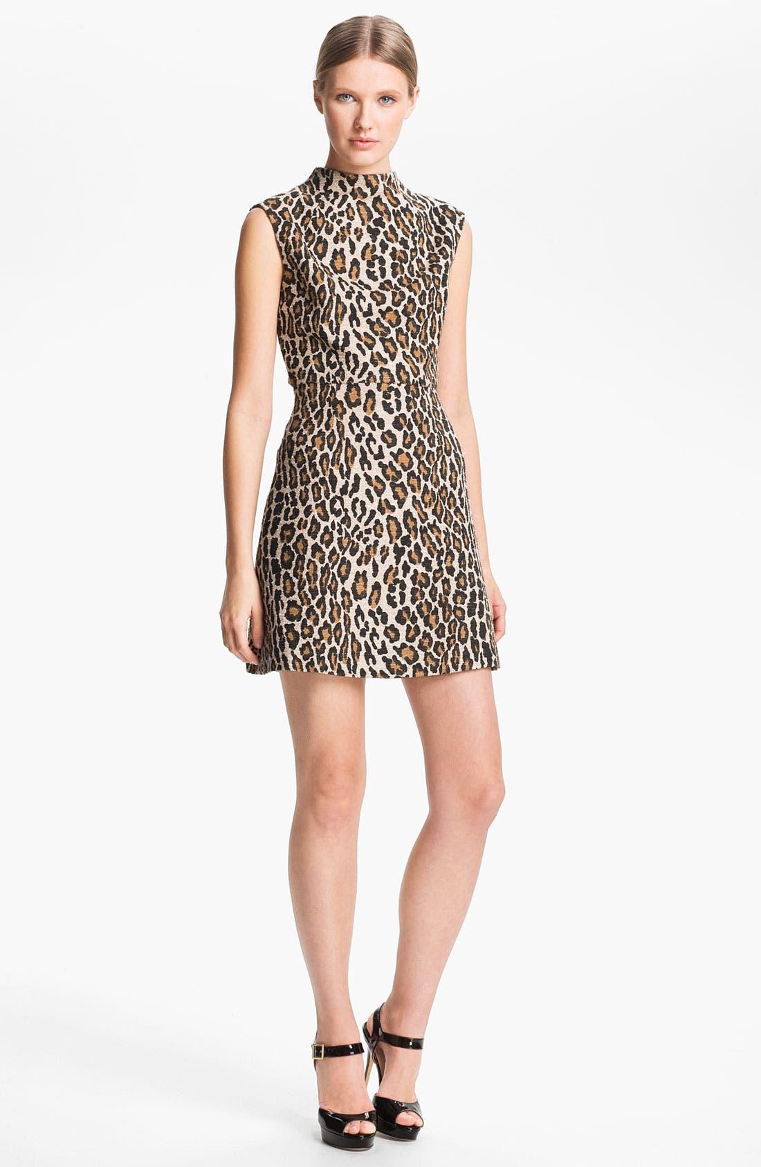 Main Image - Alice + Olivia Leopard Print Dress