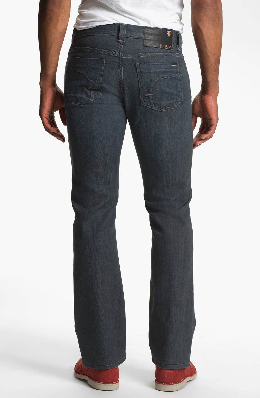 Alternate Image 2  - Fidelity Denim '5011' Straight Leg Jeans (Diego Steel)