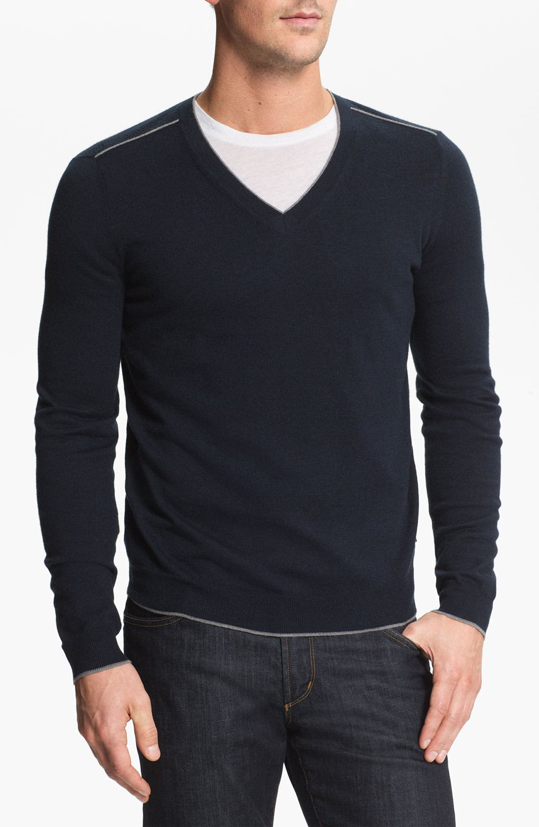 Alternate Image 1 Selected - BOSS Black 'Gary' V-Neck Sweater
