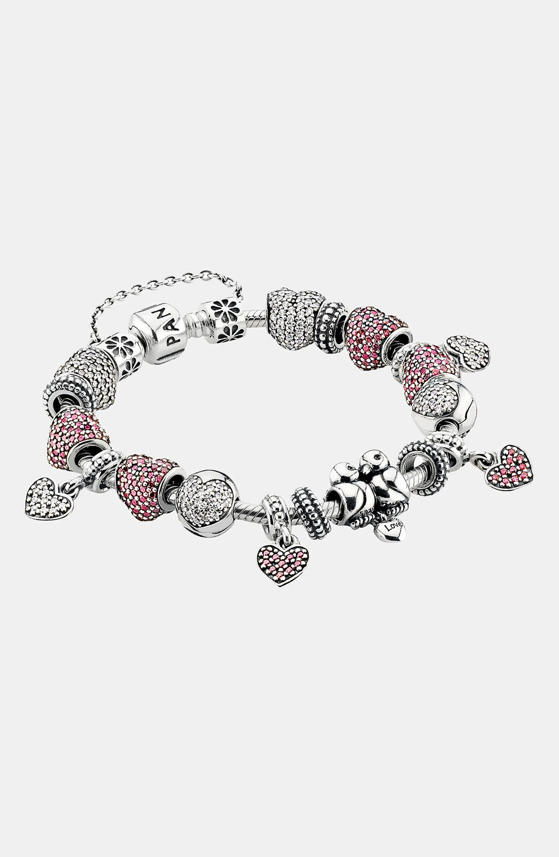 Alternate Image 2  - PANDORA 'Lovebirds' Heart Dangle Charm