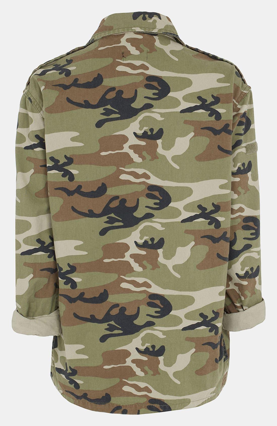 Alternate Image 2  - Topshop Camo Maternity Jacket