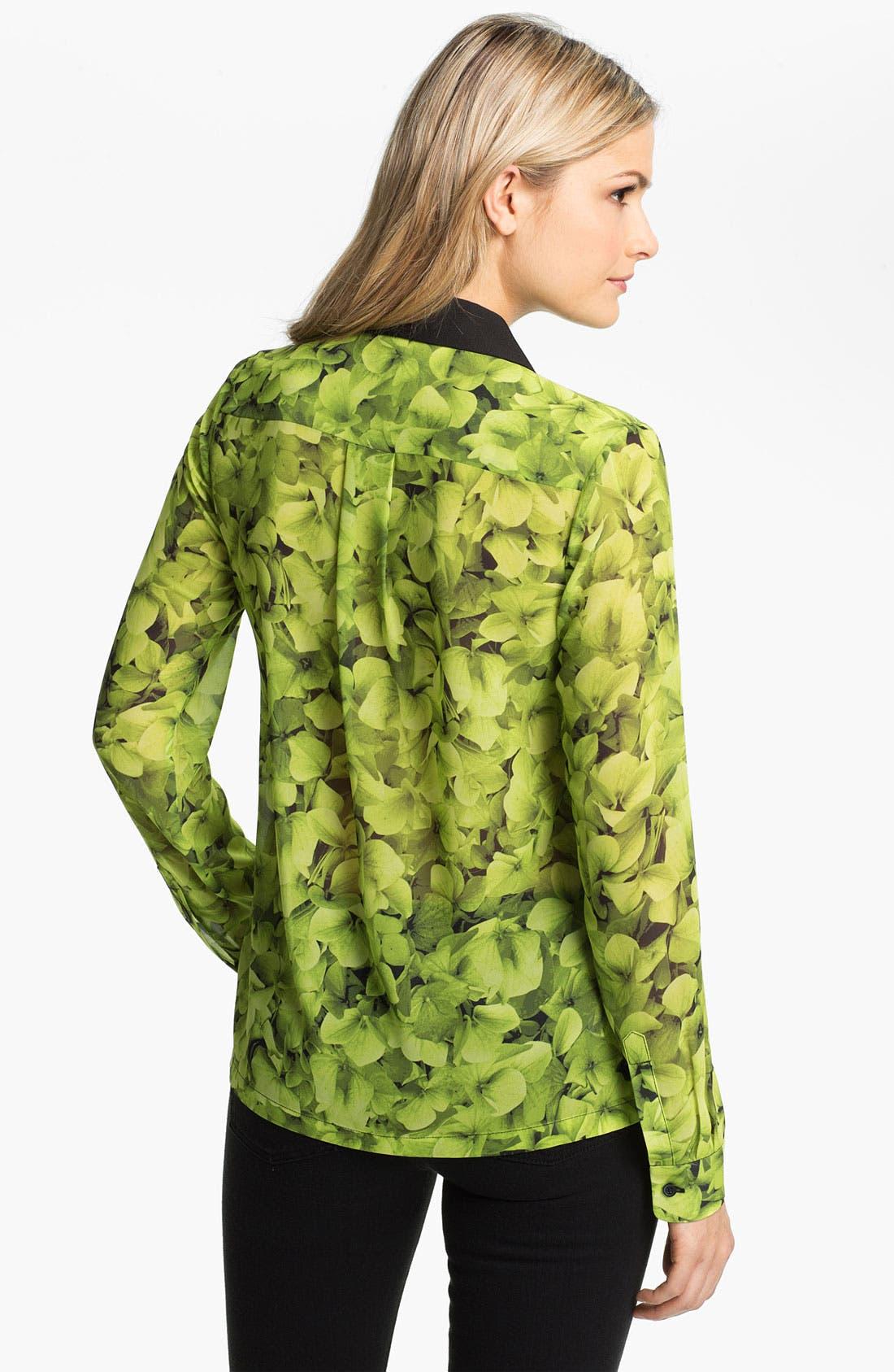 Alternate Image 2  - MICHAEL Michael Kors Sheer Floral Print Blouse