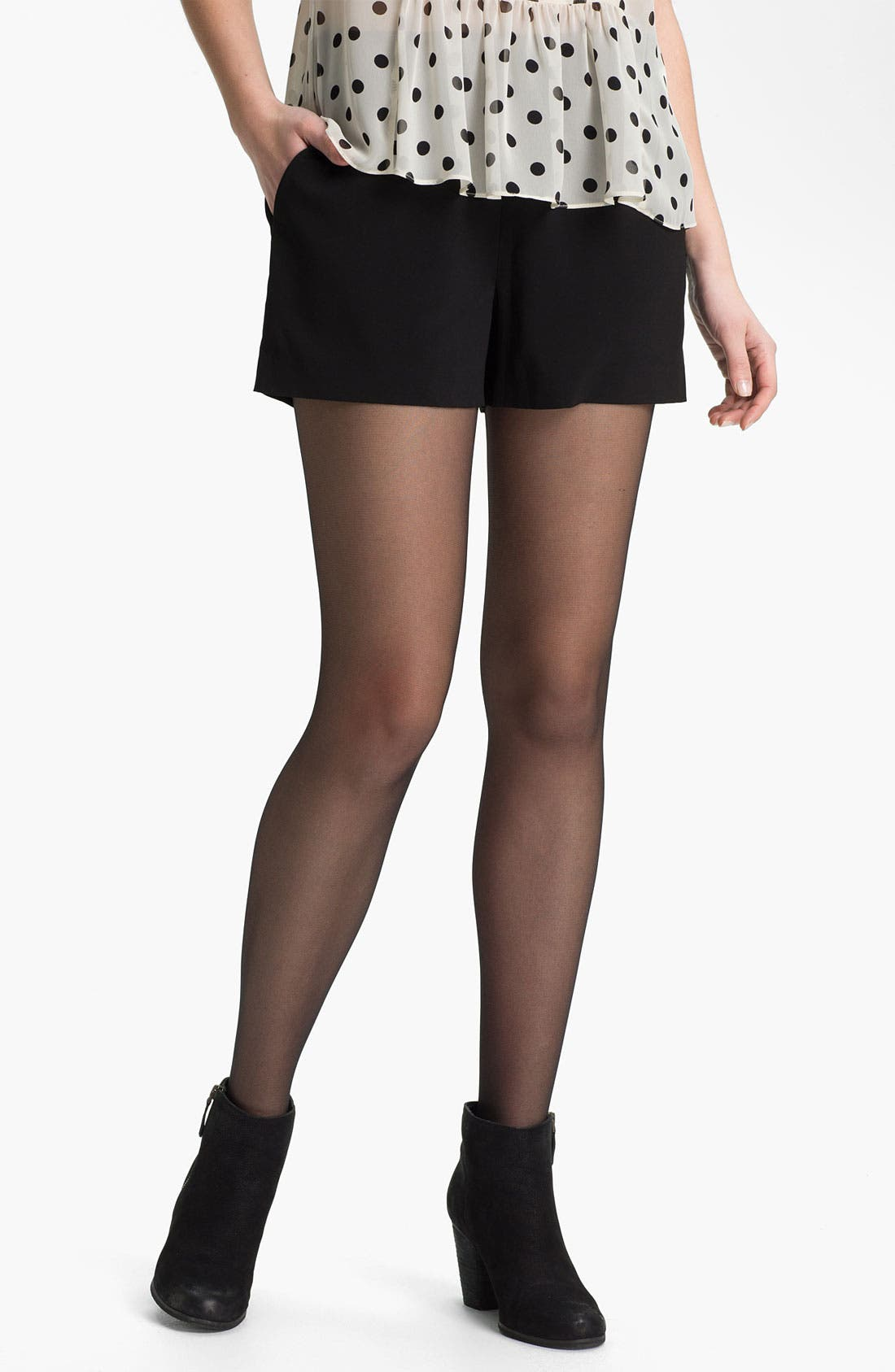 Main Image - BP. Silky High Waist Shorts (Juniors)
