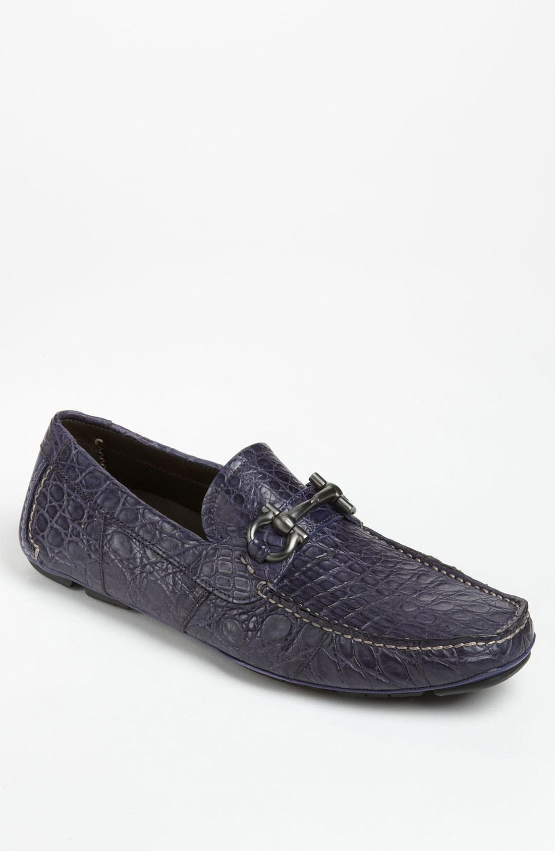 Alternate Image 1 Selected - Salvatore Ferragamo 'Parigi' Crocodile Driving Shoe