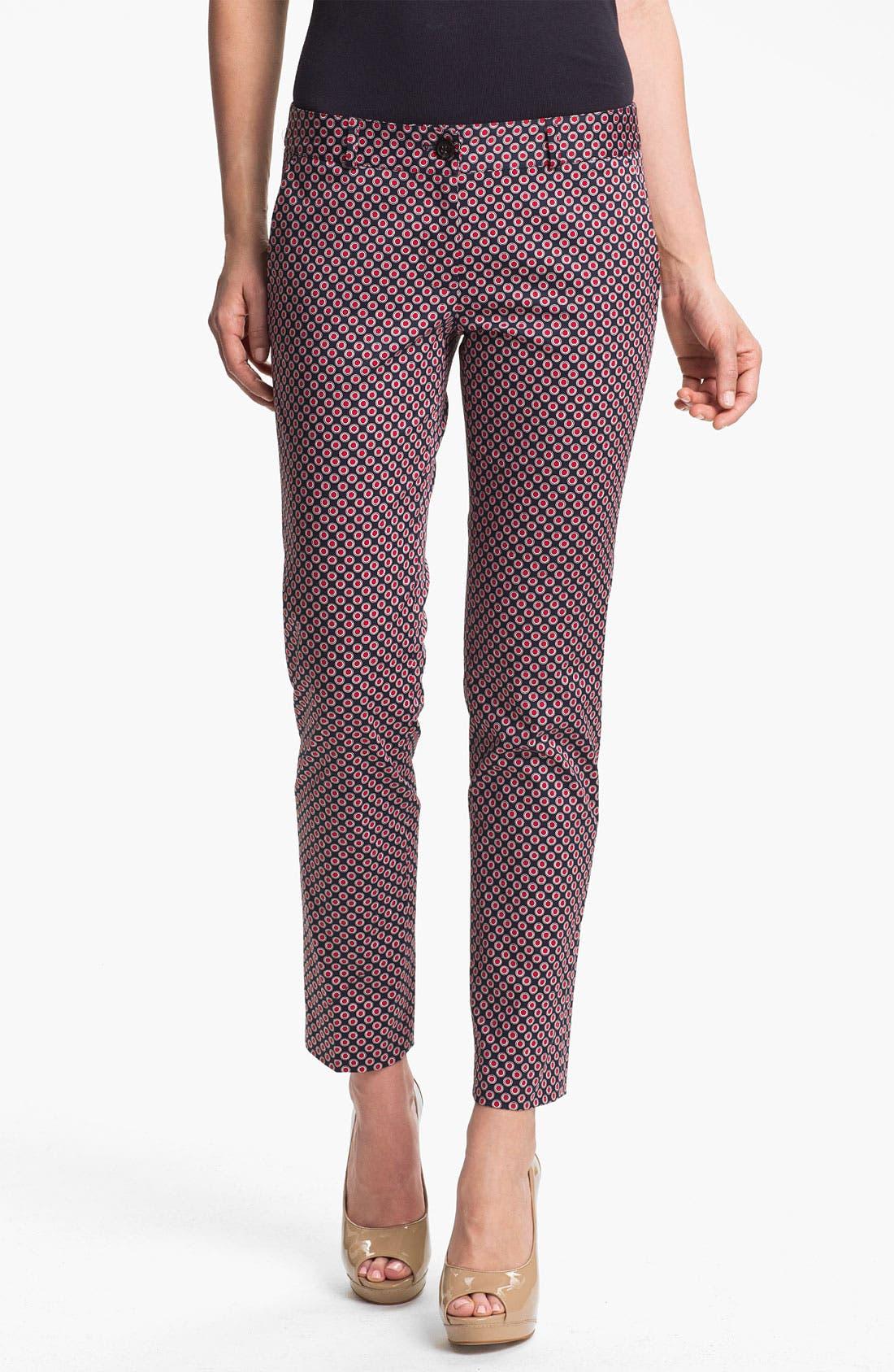 Alternate Image 1 Selected - MICHAEL Michael Kors Skinny Print Ankle Pants