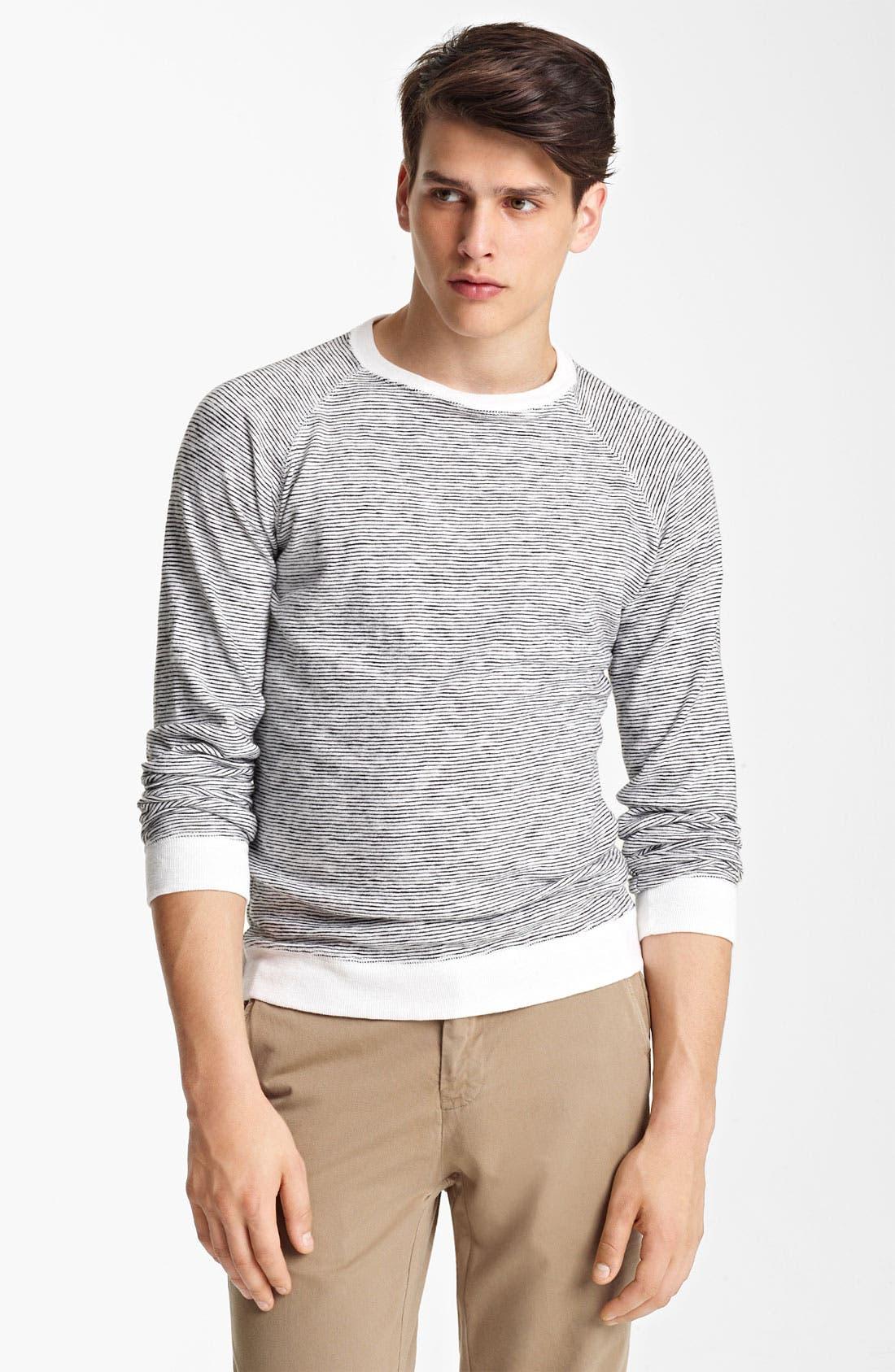 Alternate Image 1 Selected - Billy Reid Stripe Crewneck Sweatshirt