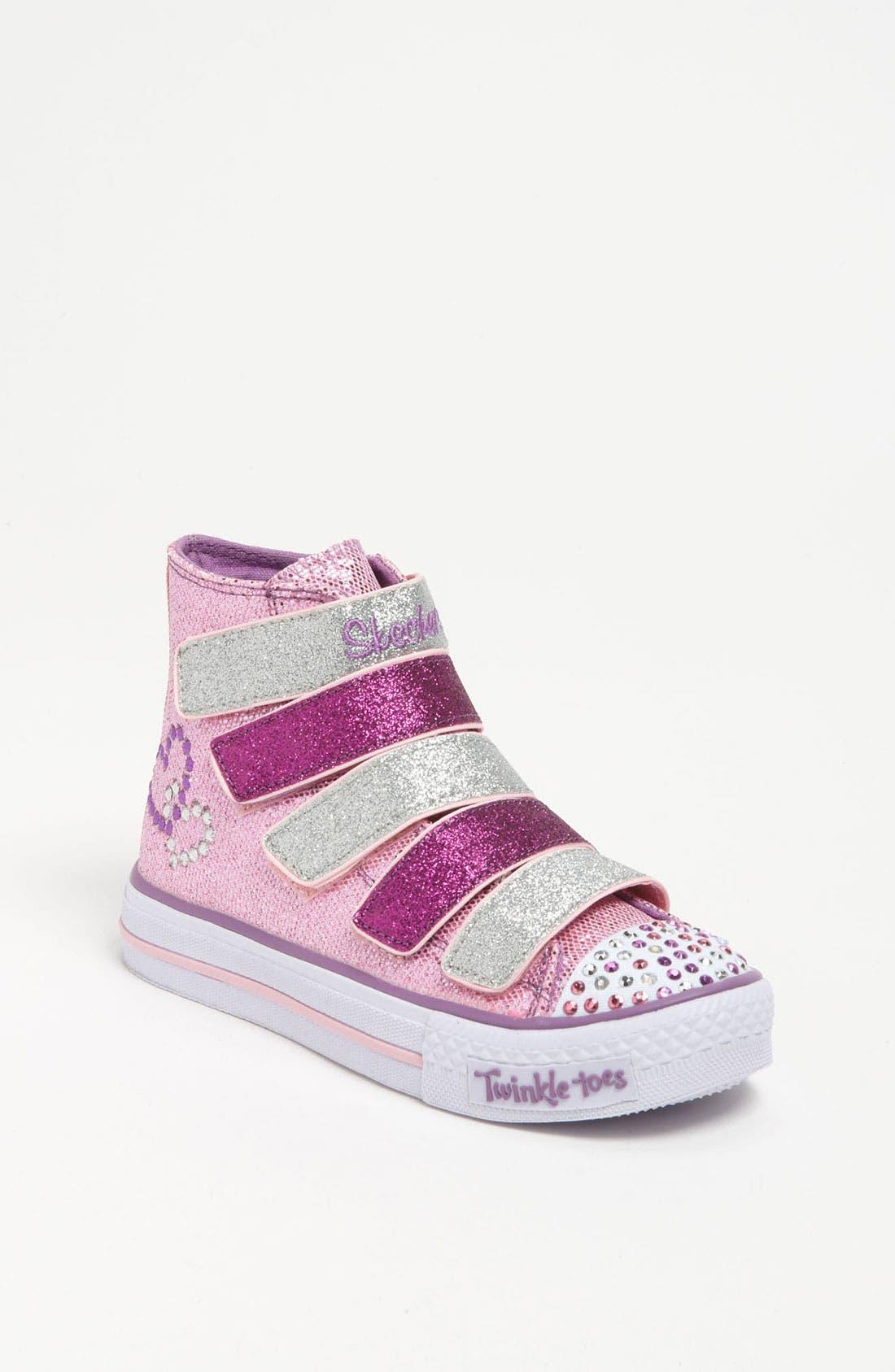 Alternate Image 1 Selected - SKECHERS 'Shuffles S Lights -  5 Alive' Sneaker (Toddler & Little Kid)