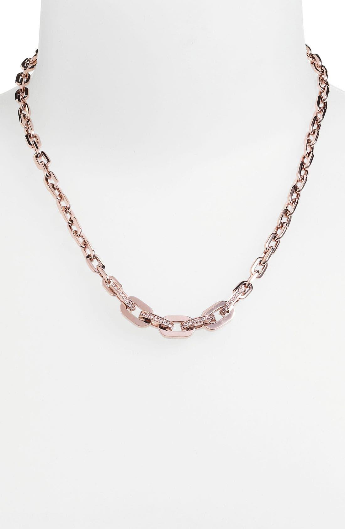 Alternate Image 2  - Michael Kors Pavé Link Necklace