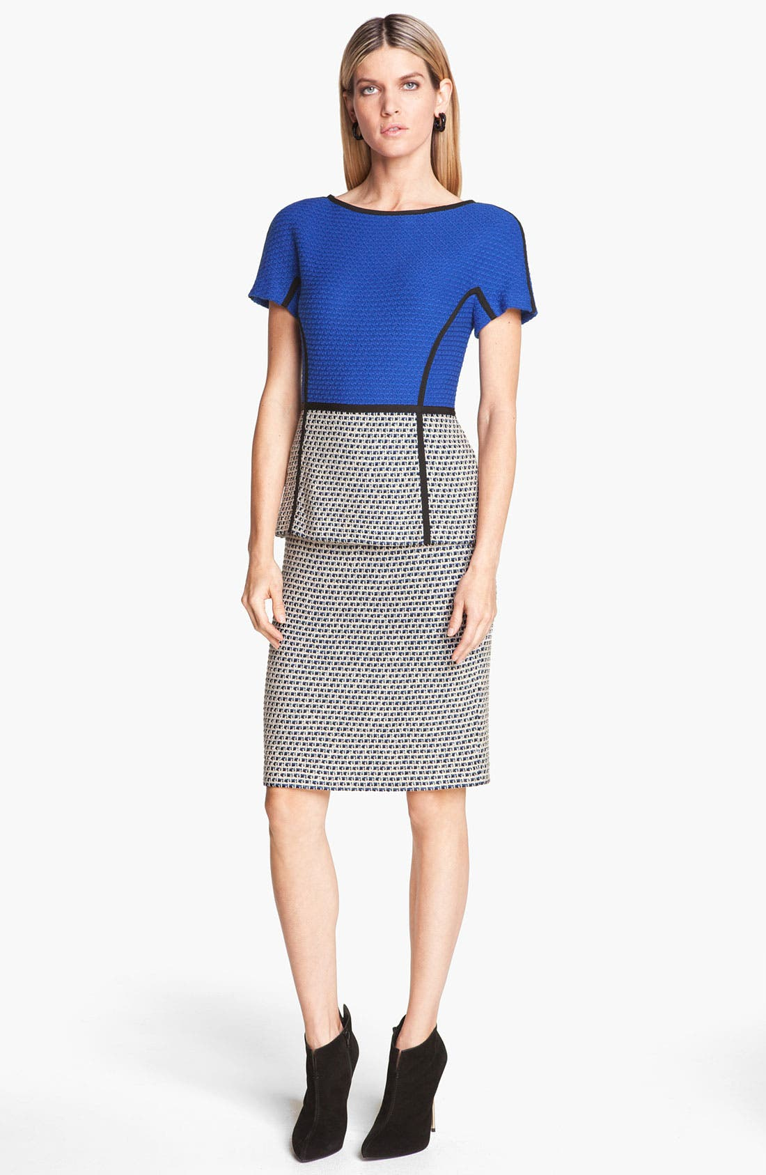 Main Image - St. John Collection Mock Two-Piece Tweed Dress