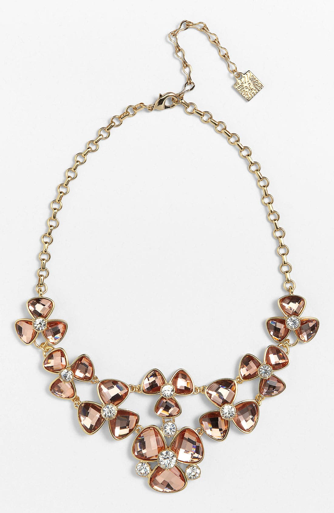 Alternate Image 2  - Anne Klein Floral Bib Necklace