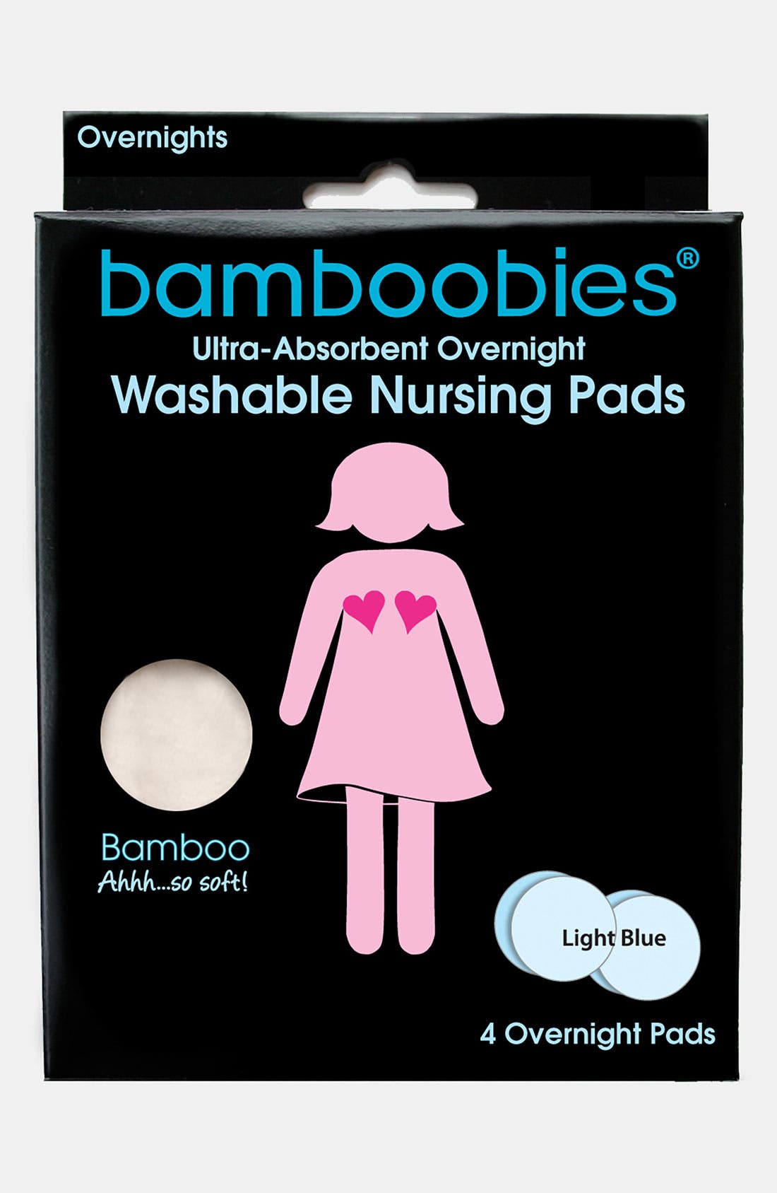 Alternate Image 2  - Bamboobies® 'Overnight Bamboobies®' Nursing Pads (2 Pairs)