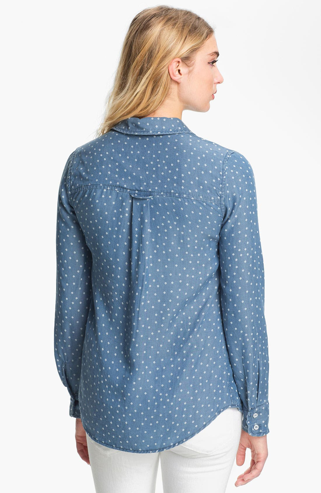 Alternate Image 2  - Splendid Ditsy Print Chambray Shirt