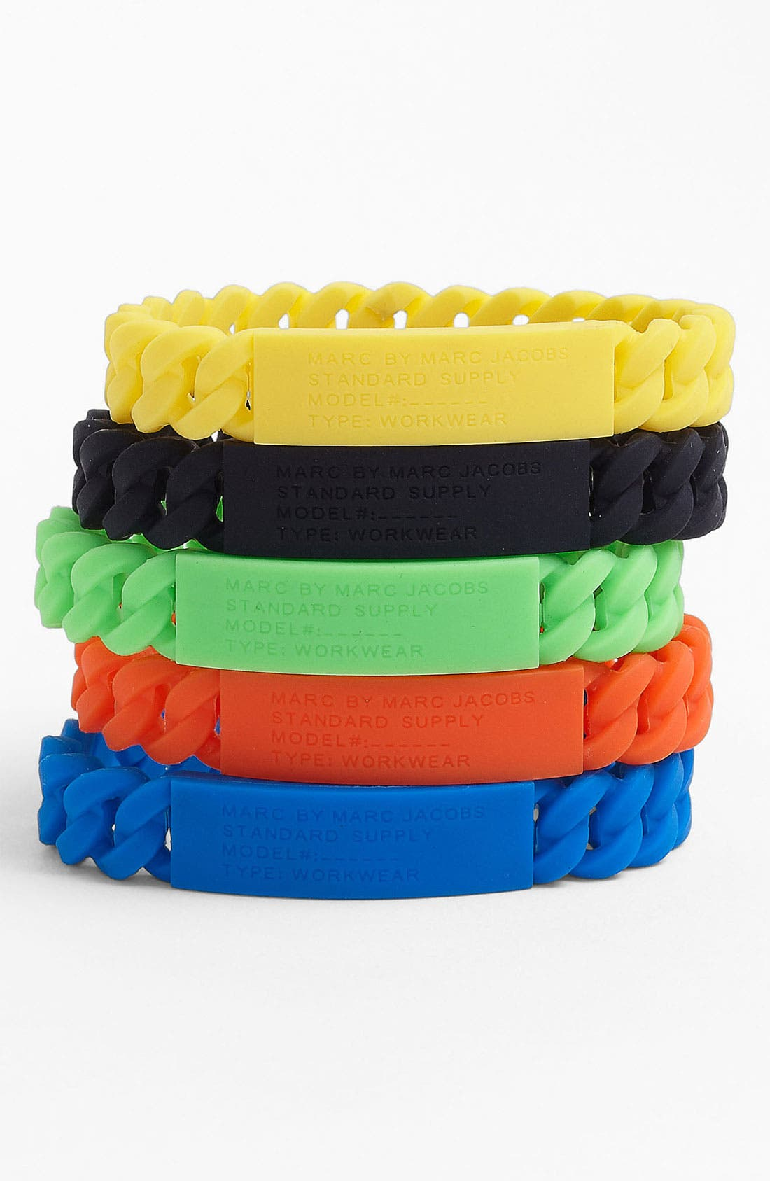 Alternate Image 1 Selected - MARC BY MARC JACOBS 'Rubber Standard Supply' Stretch ID Bracelet