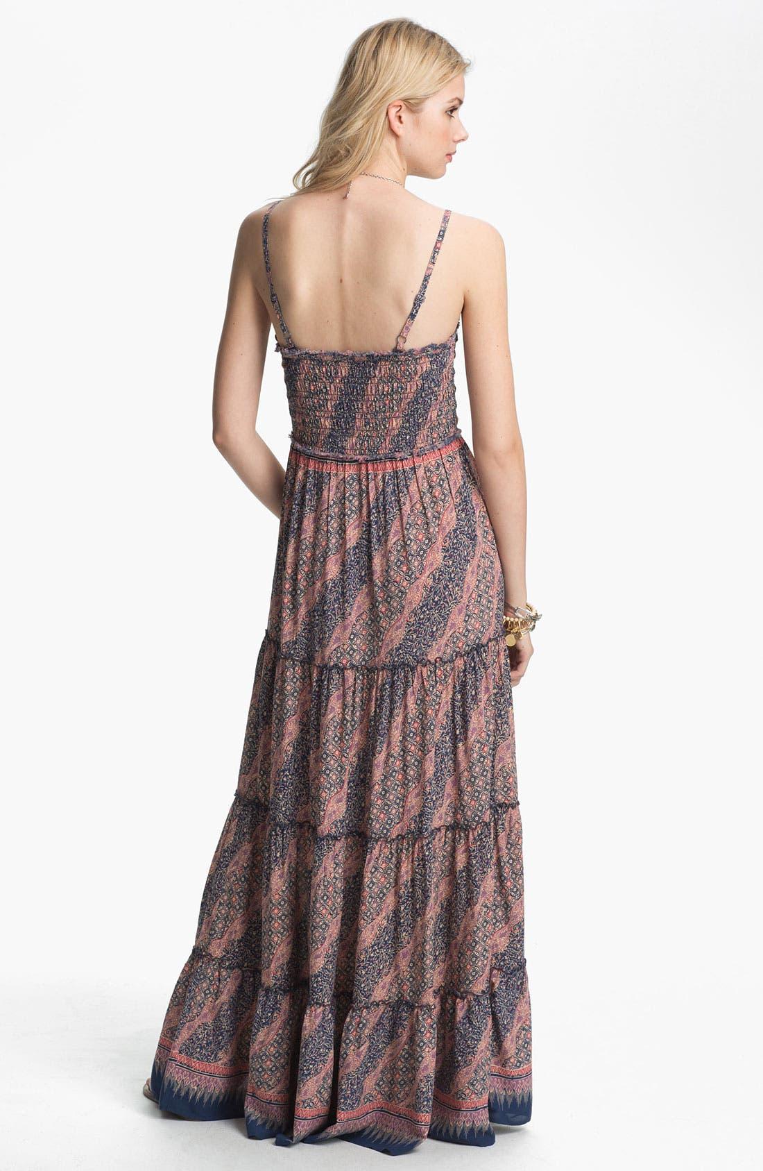 Alternate Image 2  - Free People Vintage Print Tiered Maxi Dress