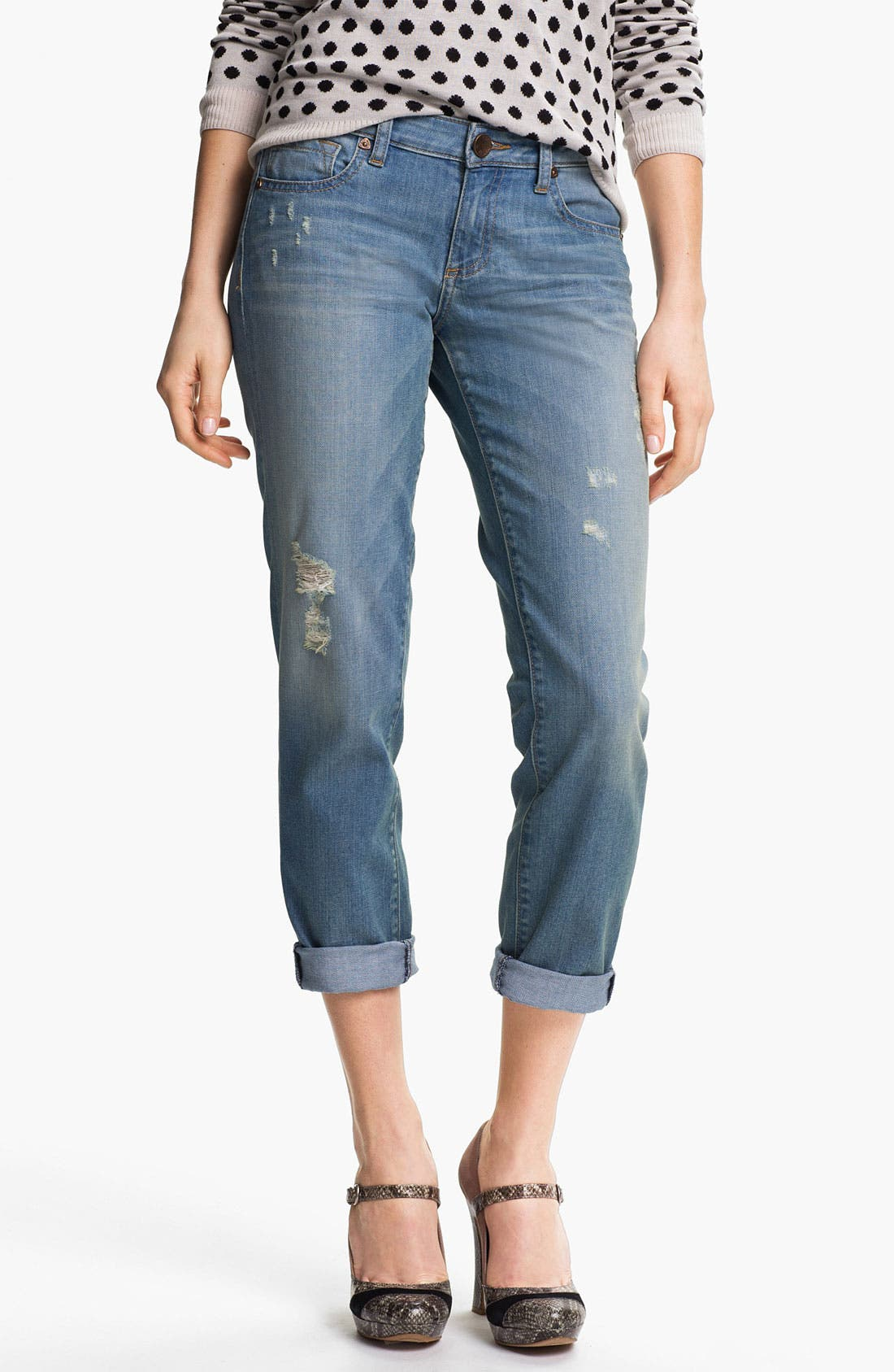 Alternate Image 1 Selected - KUT from the Kloth 'Ingrid' Boyfriend Stretch Jeans
