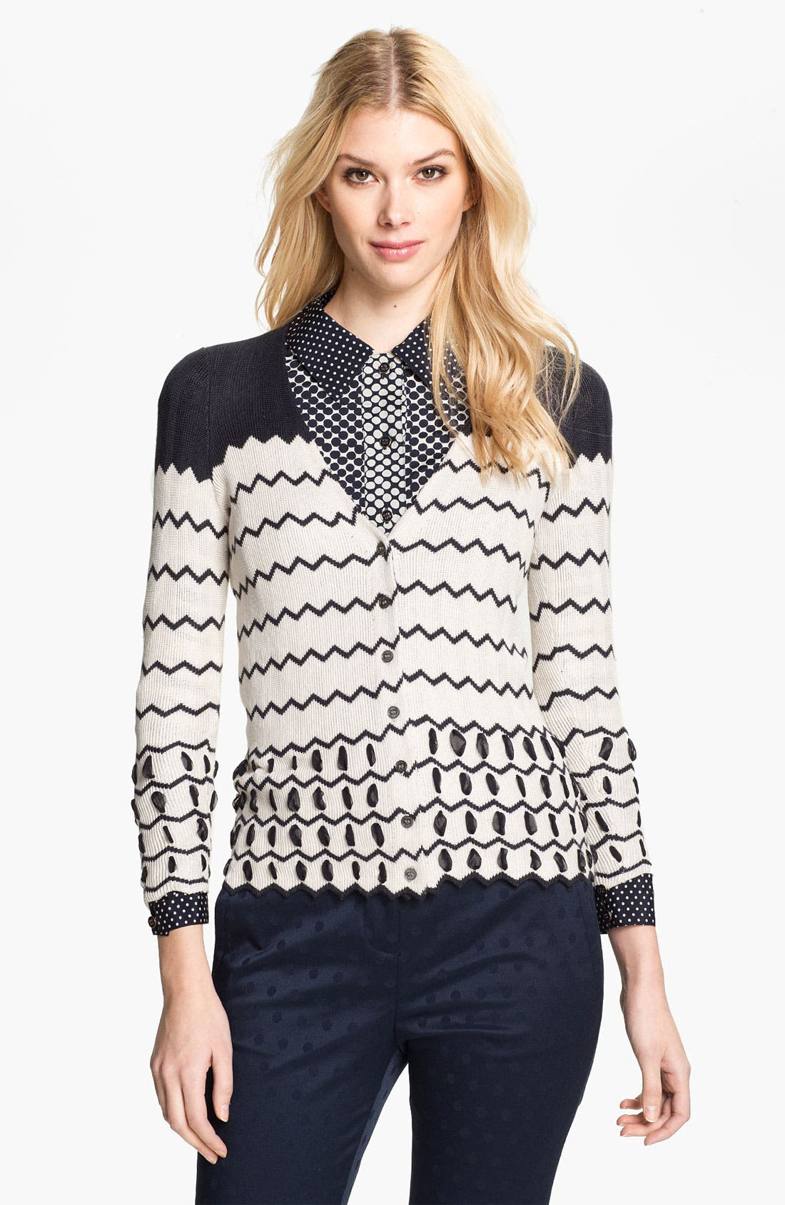 Alternate Image 1 Selected - Tory Burch 'Nicky' Silk Cardigan