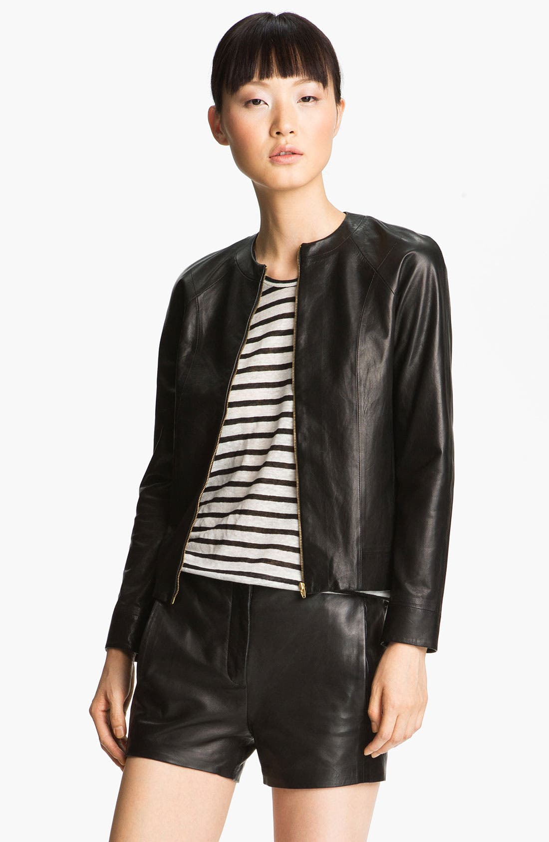 Alternate Image 3  - T by Alexander Wang Fitted Leather Jacket