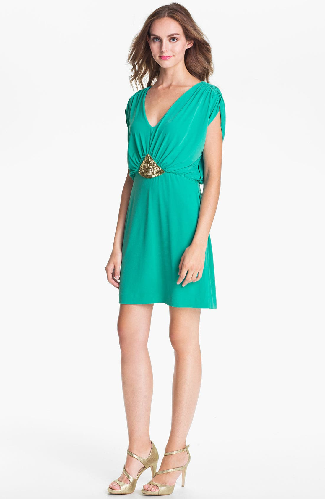 Main Image - Trina Turk Embellished Blouson Jersey Dress