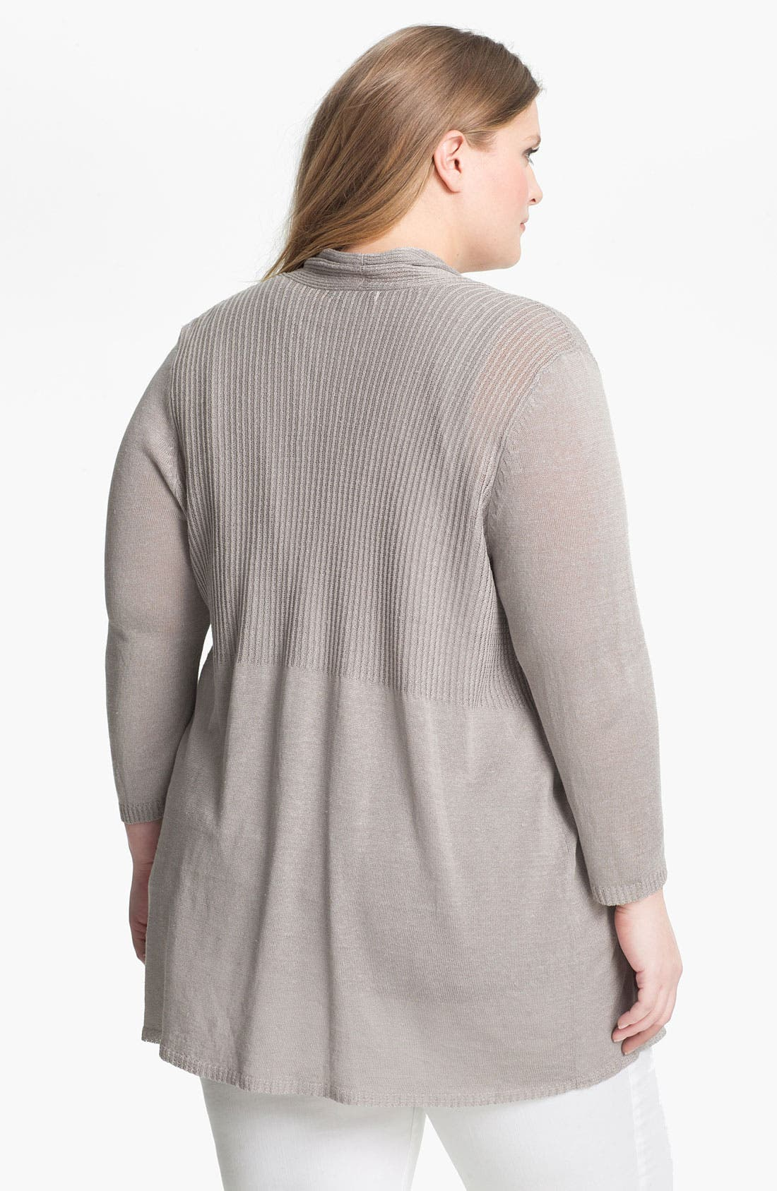 Alternate Image 2  - Nic + Zoe Ribbed Cardigan (Plus Size)