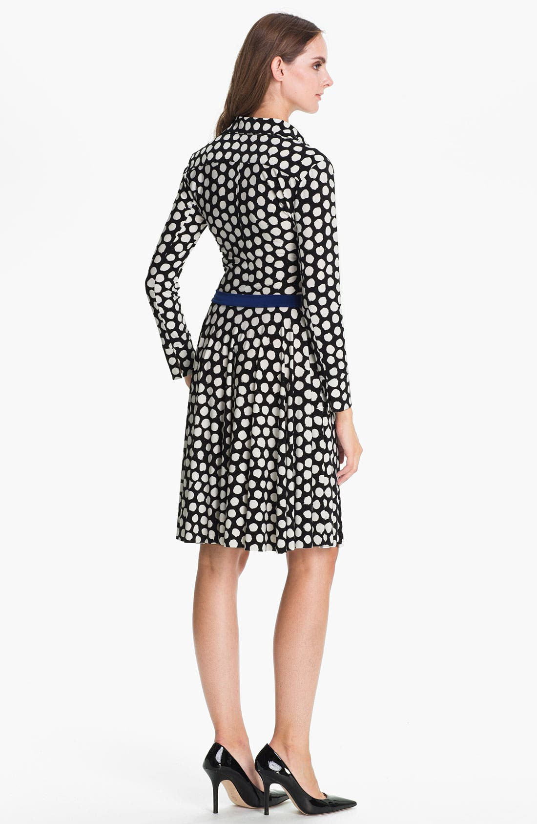 Alternate Image 2  - KAMALIKULTURE Dotted Flared Shirtdress