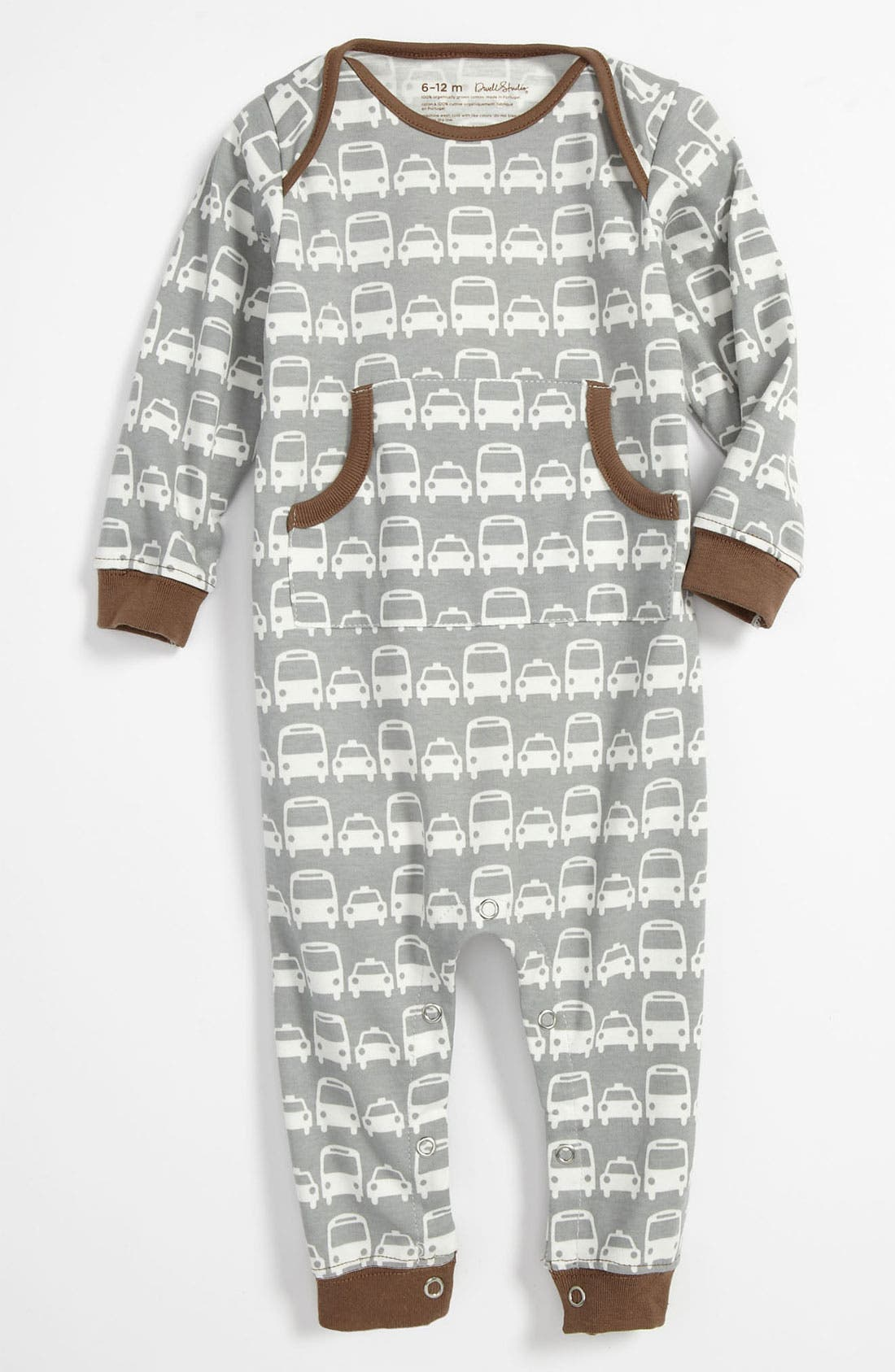 Alternate Image 1 Selected - DwellStudio 'Cars' Romper (Infant)