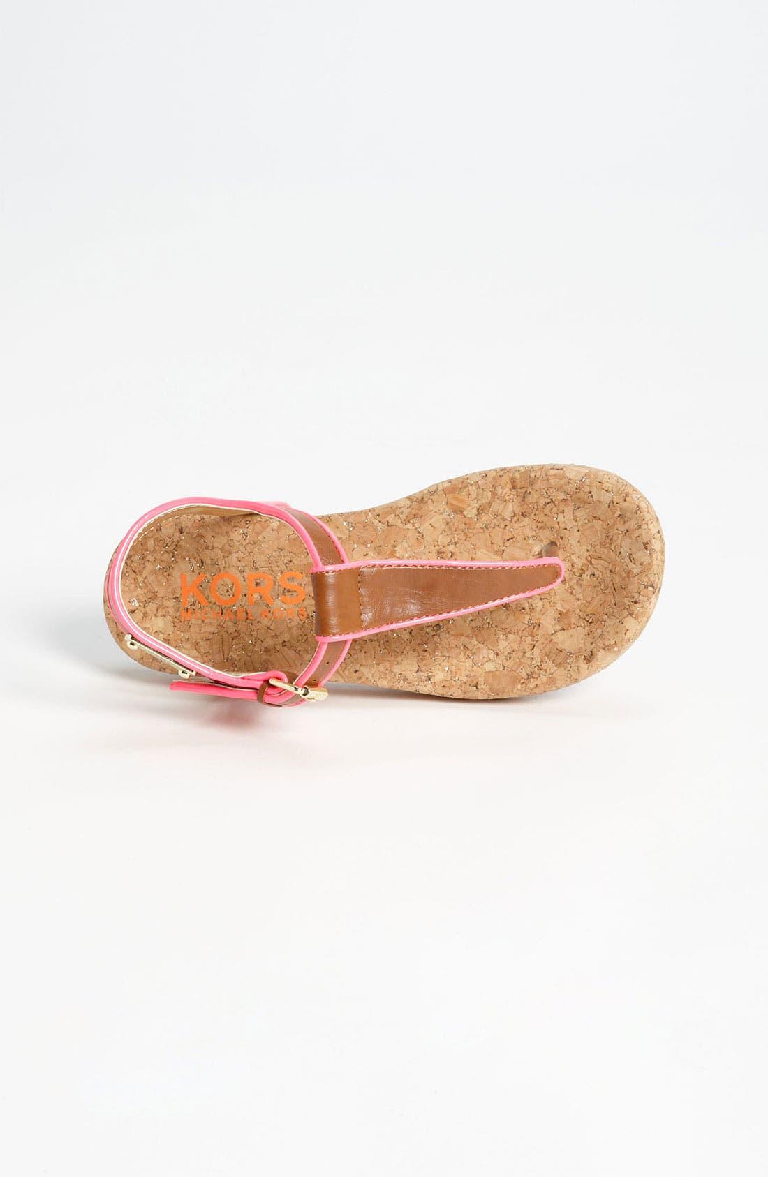Alternate Image 3  - KORS Michael Kors 'Moonlight' Sandal (Toddler, Little Kid & Big Kid)