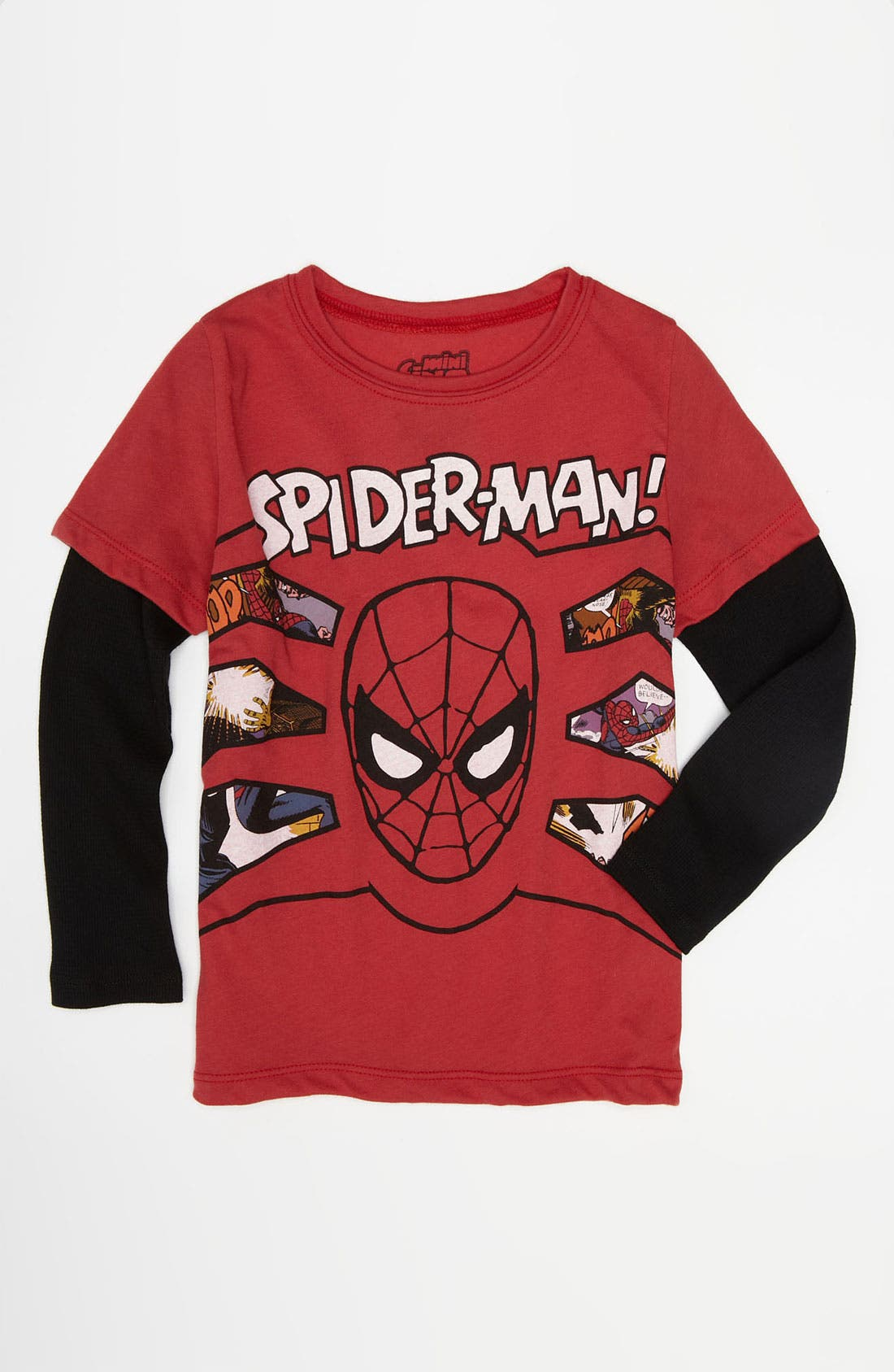 Main Image - Mighty Fine 'Spider-Man® Comics' Double Sleeve T-Shirt (Little Boys)