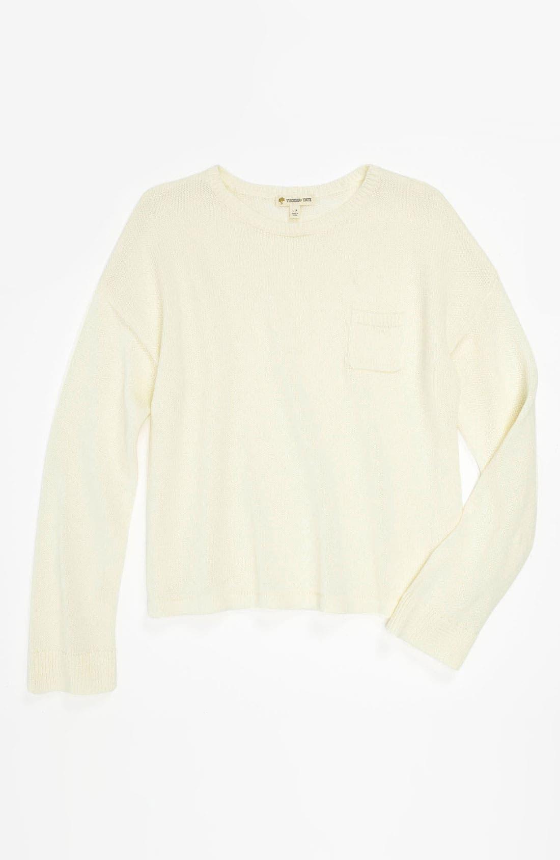 Alternate Image 1 Selected - Tucker + Tate 'Marlin' Sweater (Big Girls)