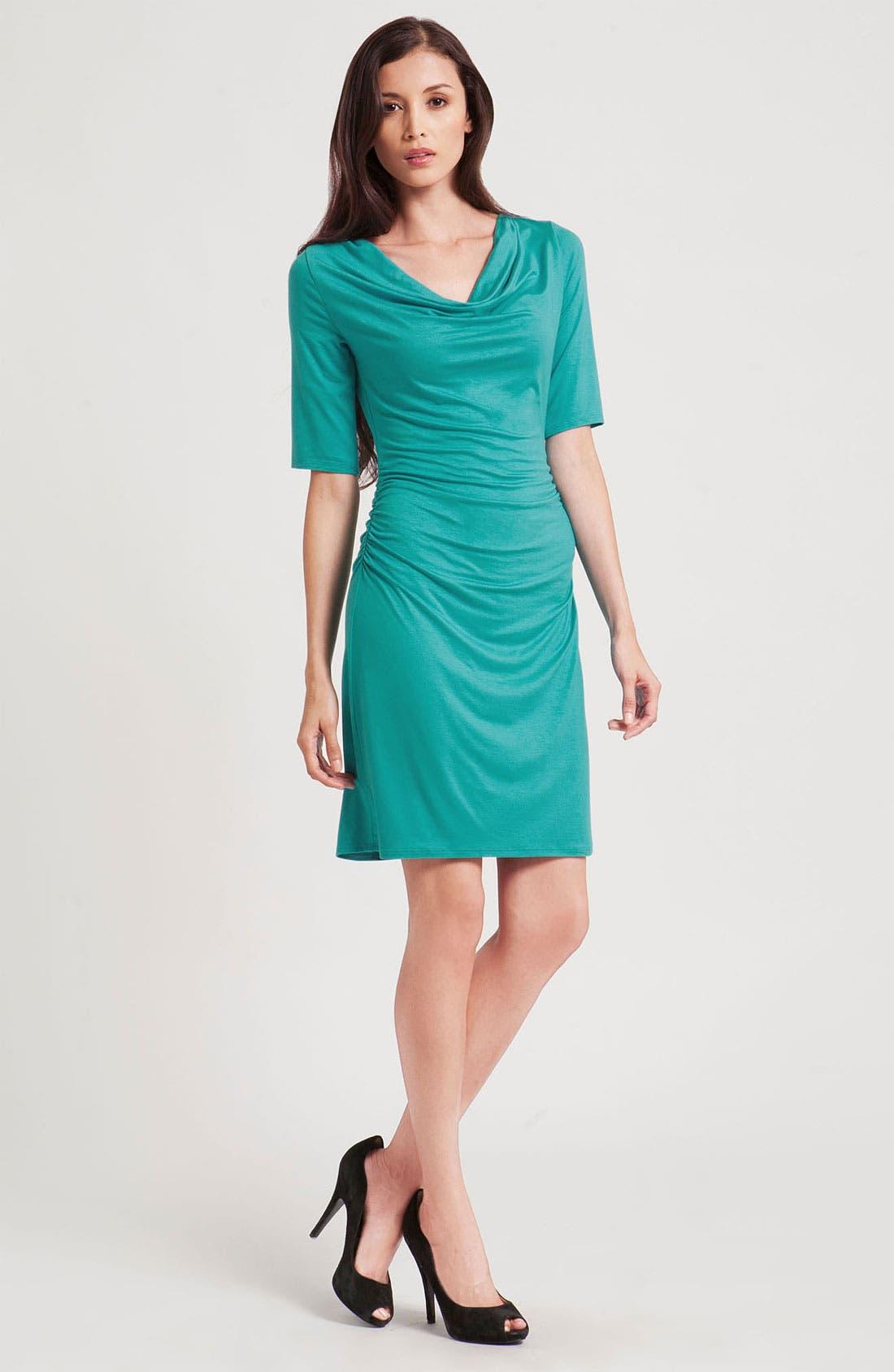 Alternate Image 1 Selected - Three Dots Cowl Neck Jersey Sheath Dress
