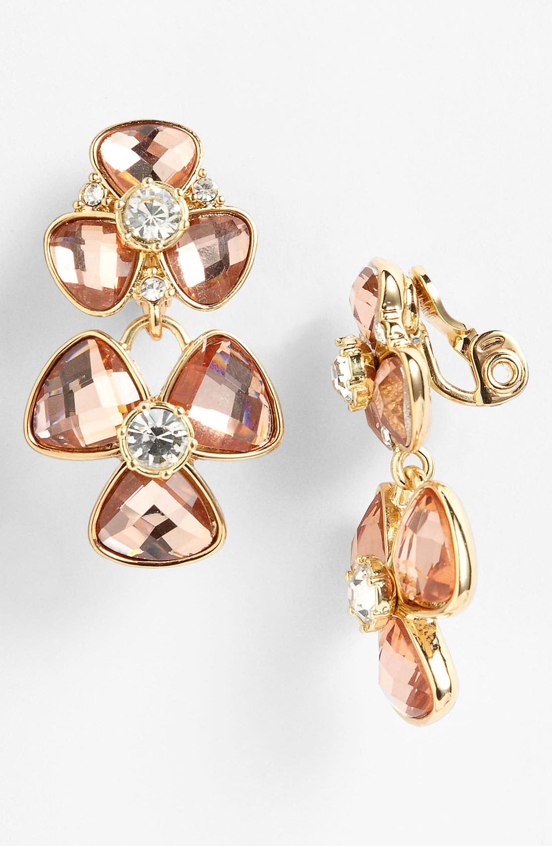 Alternate Image 1 Selected - Anne Klein Double Drop Clip Earrings