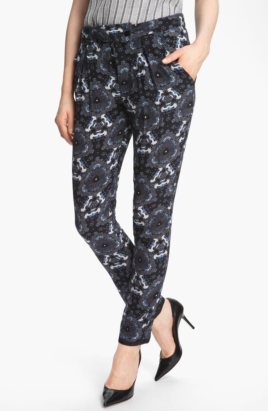 Main Image - A.L.C. 'Jasper' Print Silk Pants
