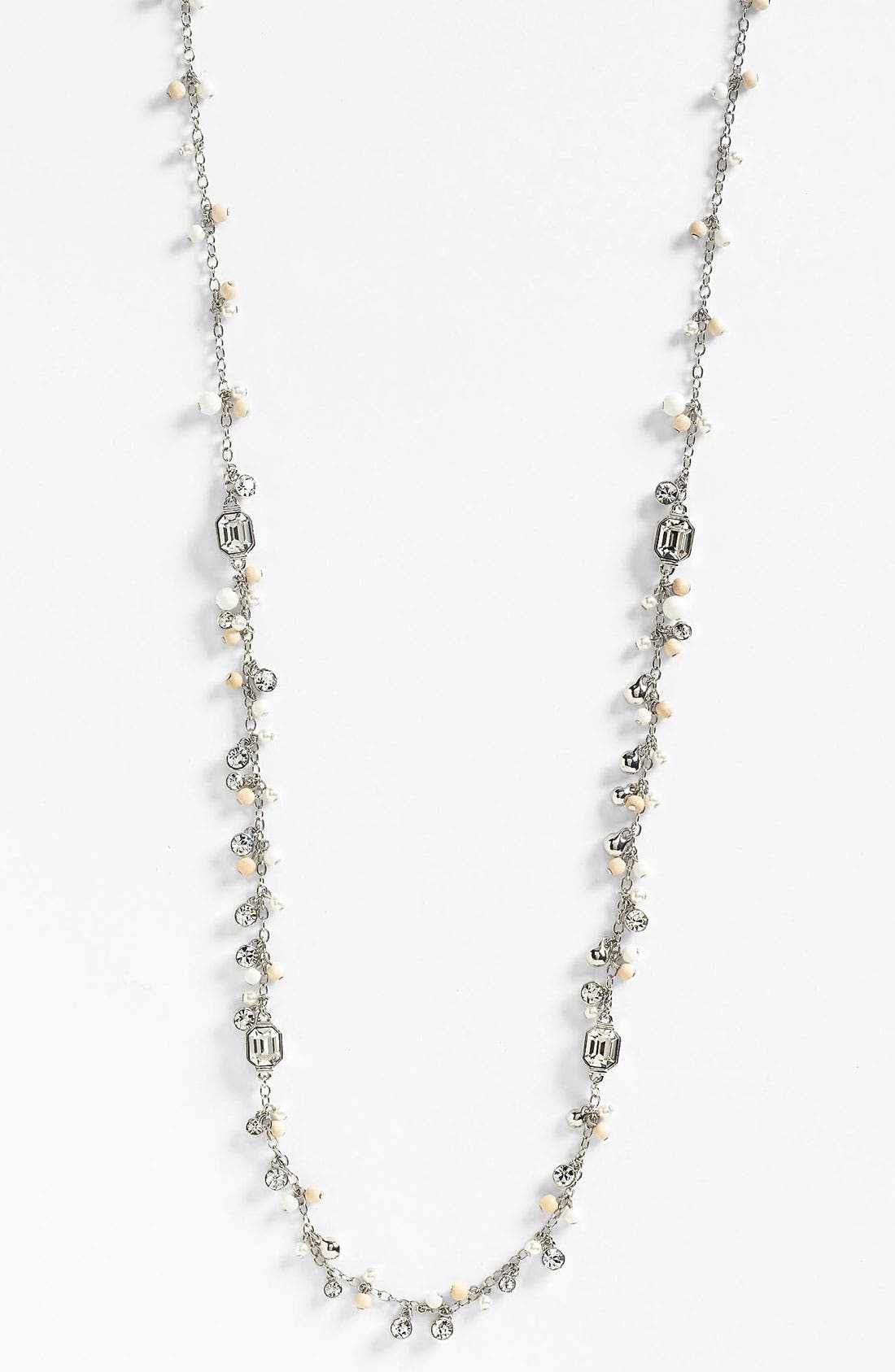 Main Image - Givenchy 'Lark' Crystal & Bead Long Necklace