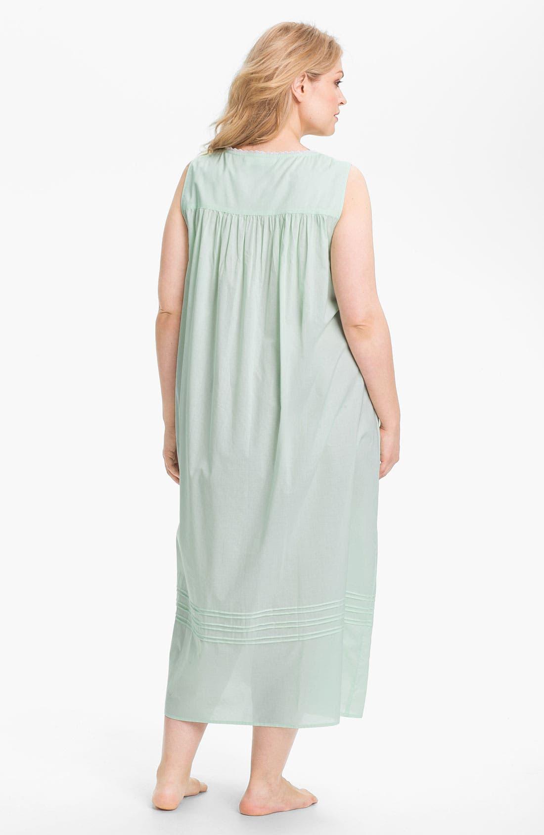 Alternate Image 2  - Eileen West 'Morning Dew' Nightgown (Plus)