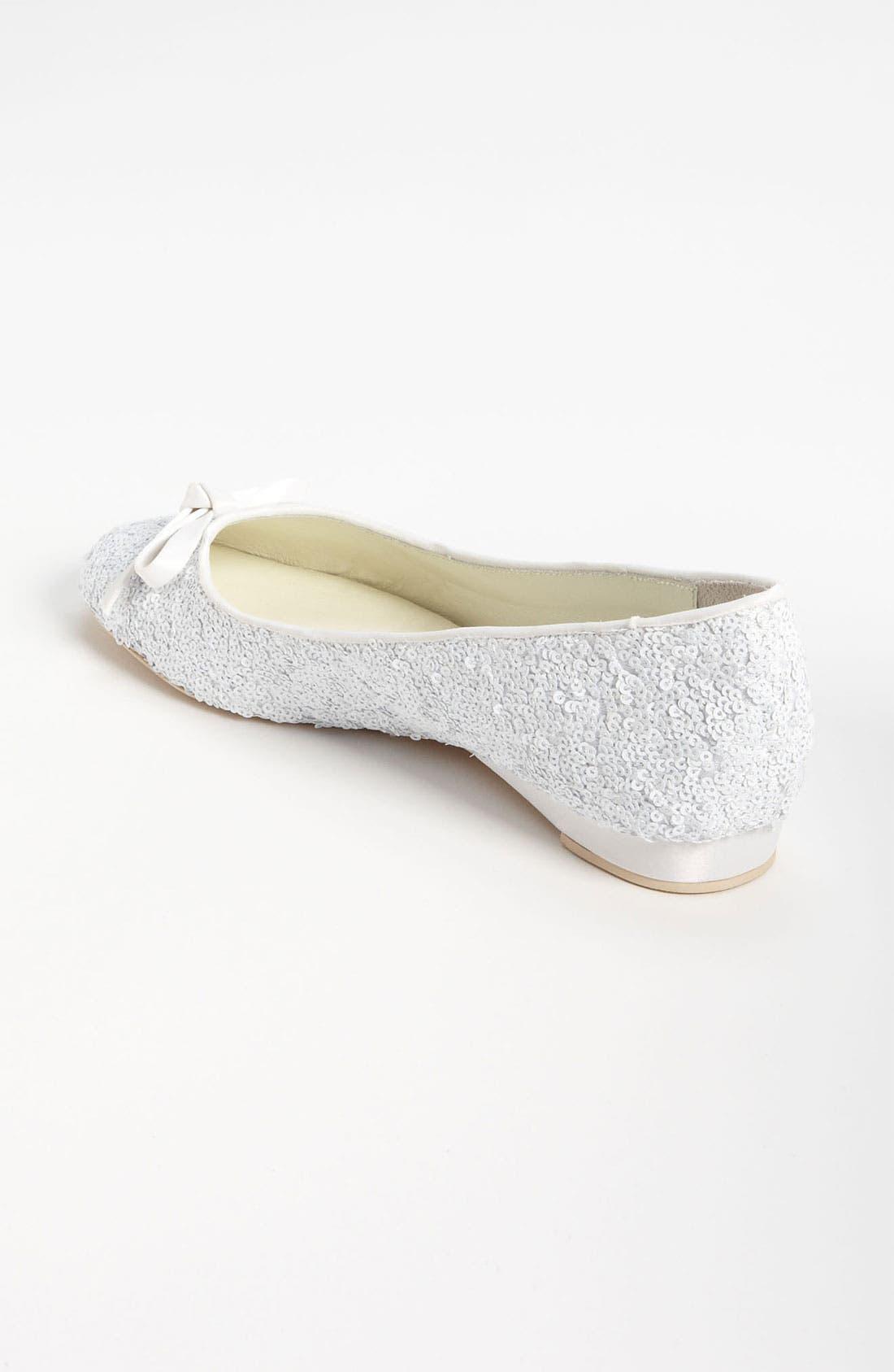 Sequin Flat,                             Alternate thumbnail 2, color,                             Ivory