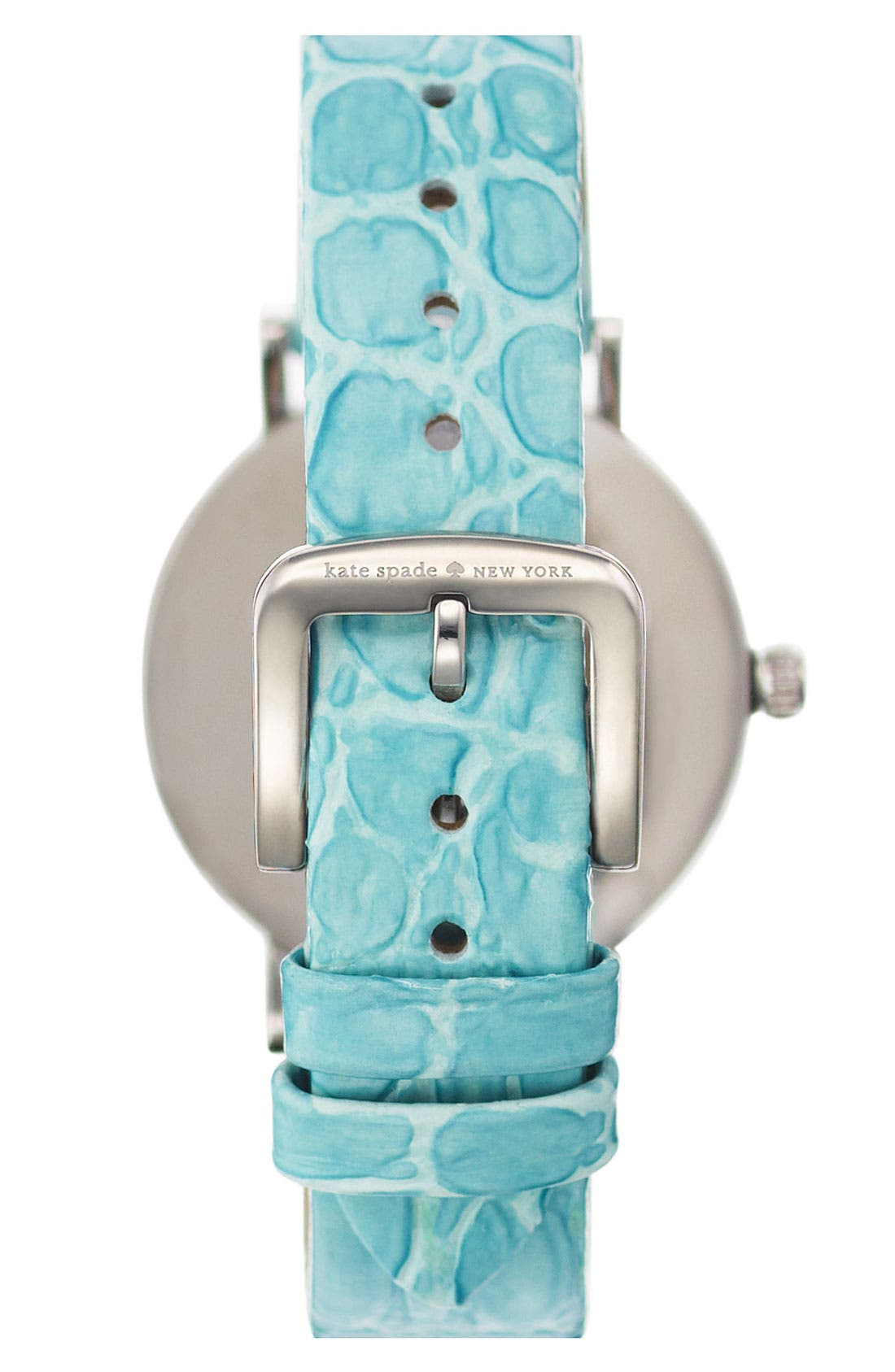 Alternate Image 3  - kate spade new york 'metro' embossed leather strap watch, 34mm