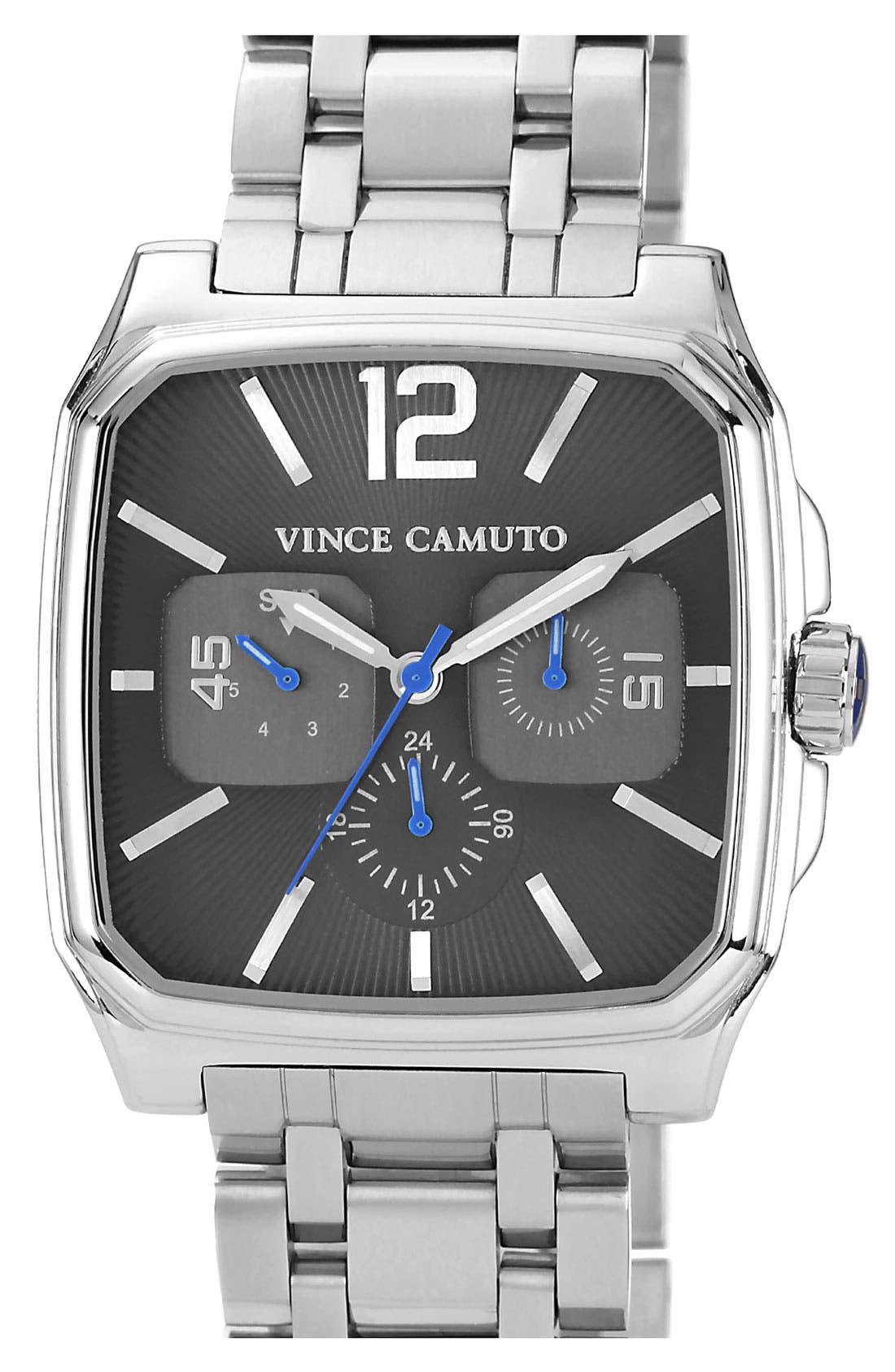 Main Image - Vince Camuto 'Sergeant' Square Bracelet Watch, 40mm x 46mm