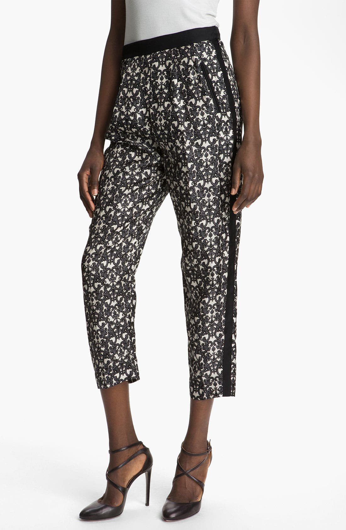 Alternate Image 1 Selected - Robert Rodriguez Filigree Print Silk Trousers