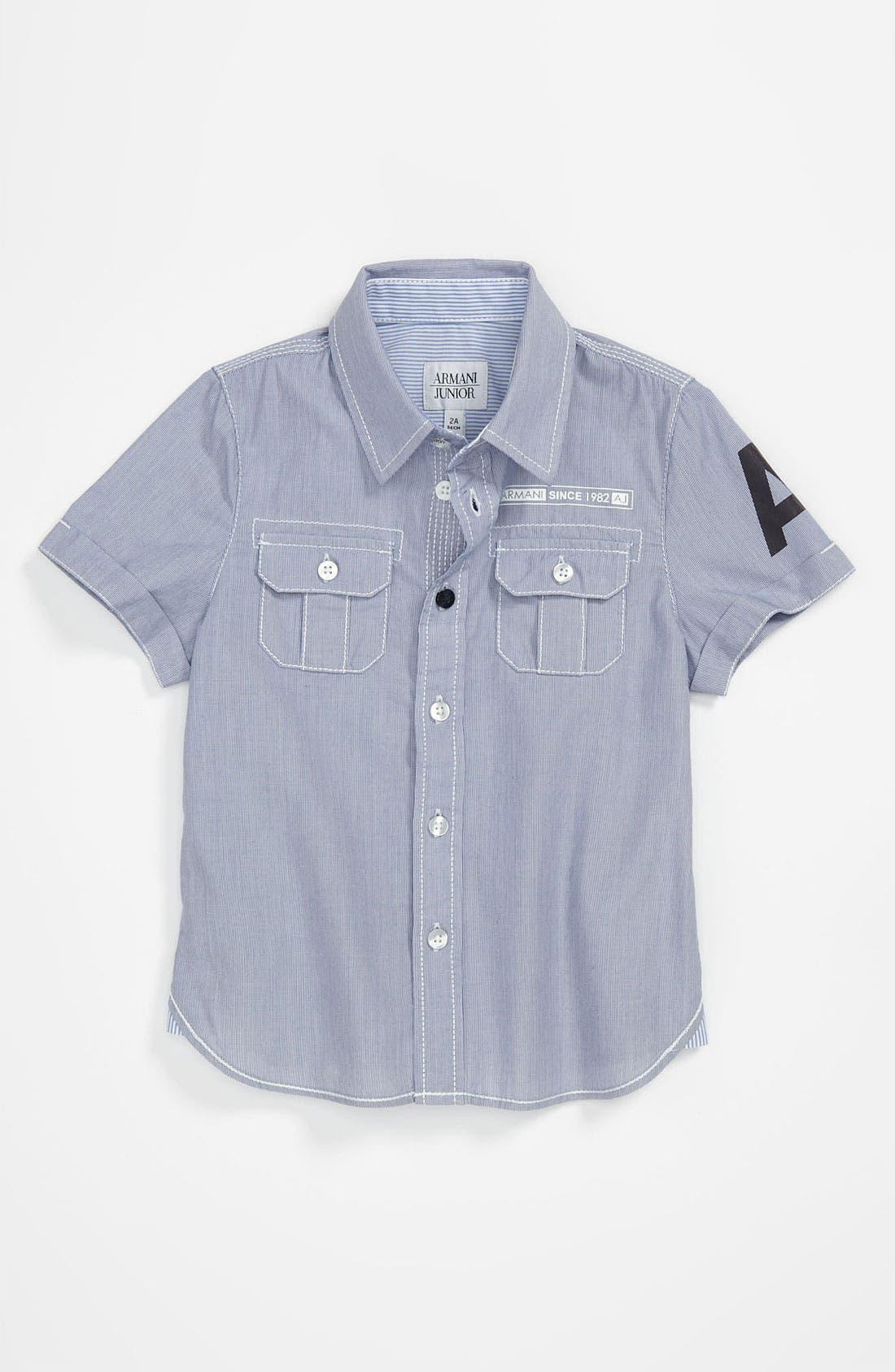 Main Image - Armani Junior Woven Shirt (Little Boys)