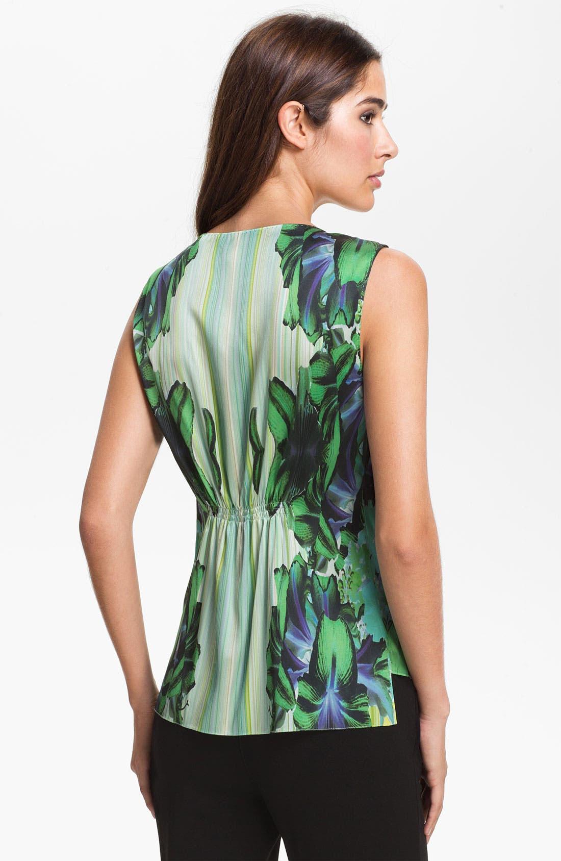 Alternate Image 2  - Elie Tahari 'Regan - Mirror Orchid' Sleeveless Blouse