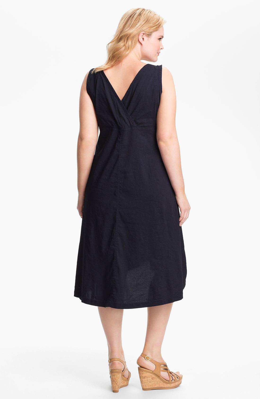 Alternate Image 2  - Eileen Fisher Midi A-Line Dress (Plus Size)