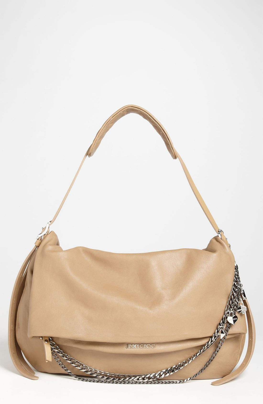 Alternate Image 1 Selected - Jimmy Choo 'Biker - Large' Leather Shoulder Bag