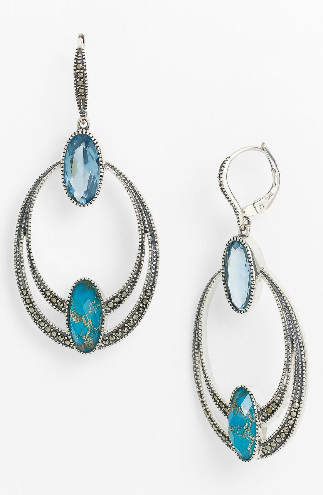 Main Image - Judith Jack Frontal Hoop Earrings